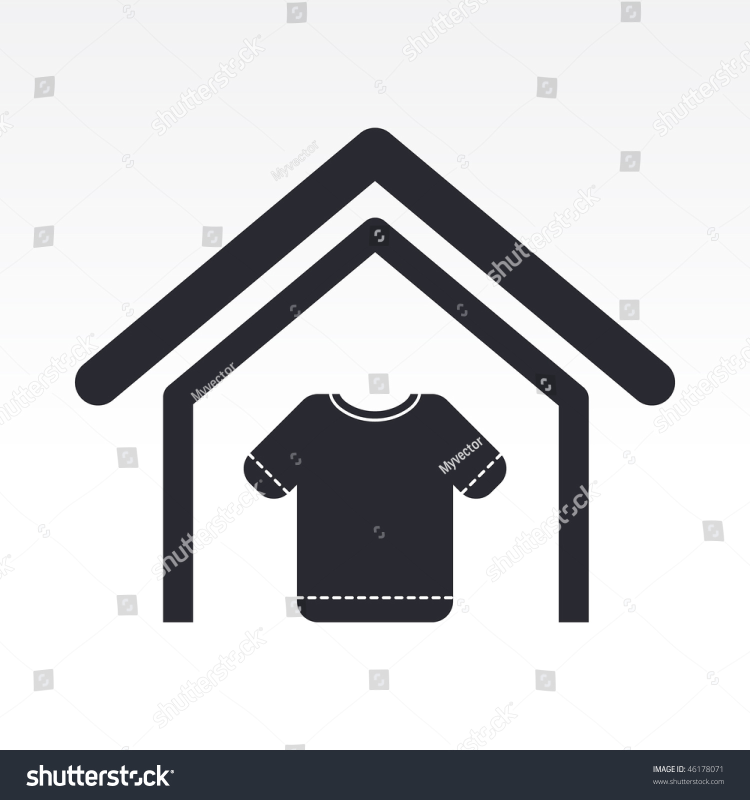 Vector illustration modern single icon depicting stock for House music symbol