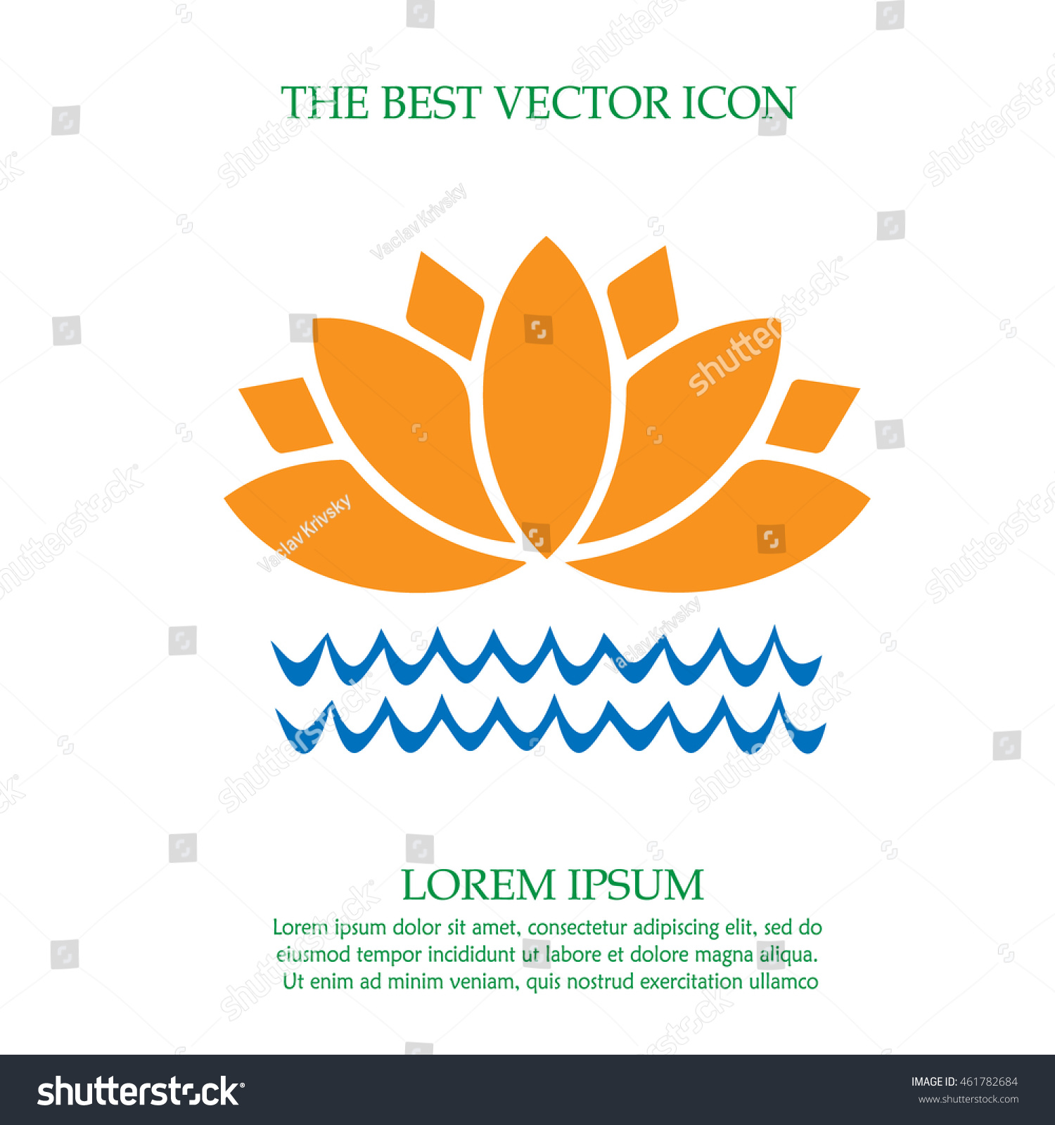 Lotus Flower On Water Vector Icon Stock Vector Hd Royalty Free