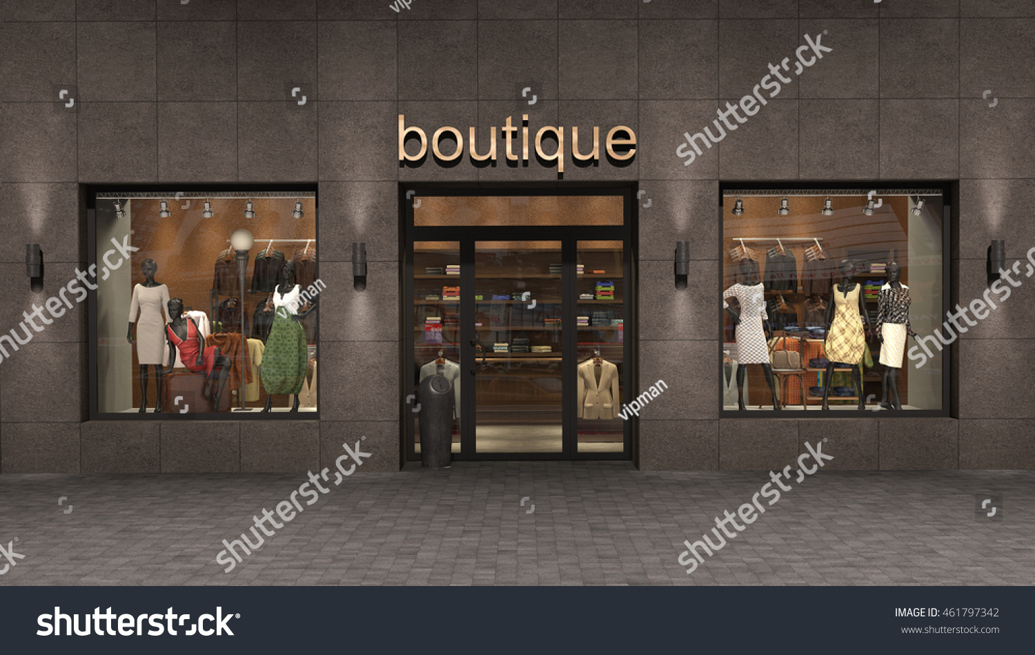 store exterior 3d illustration stock photo 461797342 shutterstock. Black Bedroom Furniture Sets. Home Design Ideas