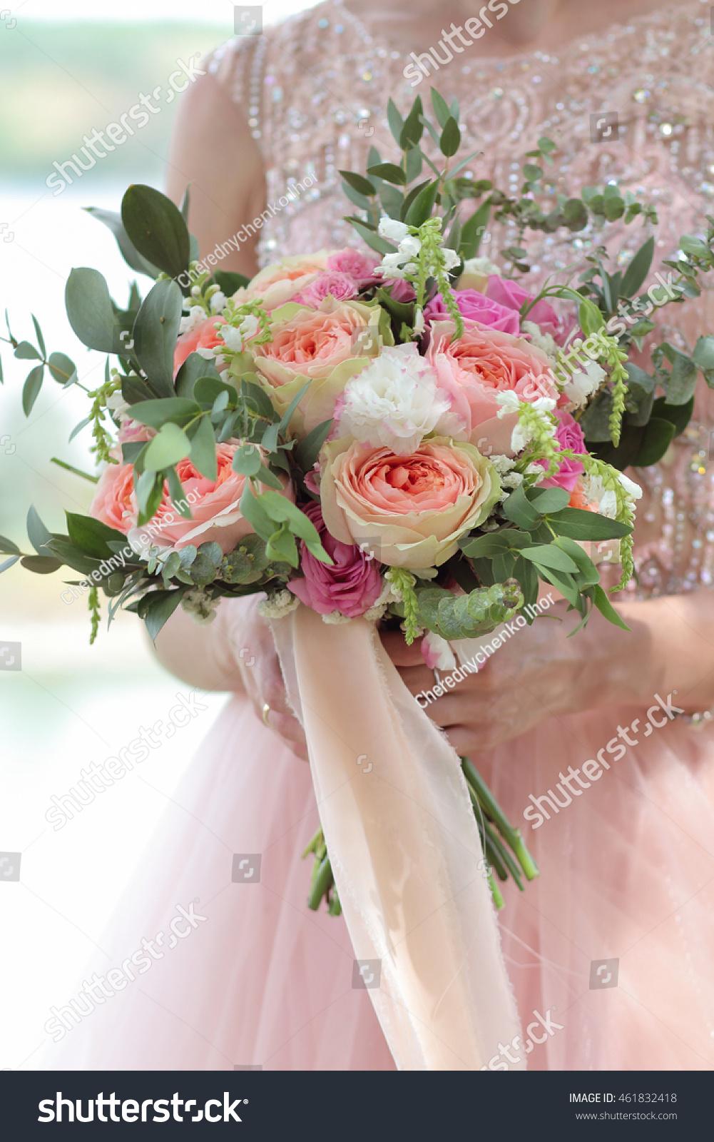 Bride Holding Beautiful Bridal Bouquet Wedding Stock Photo Edit Now