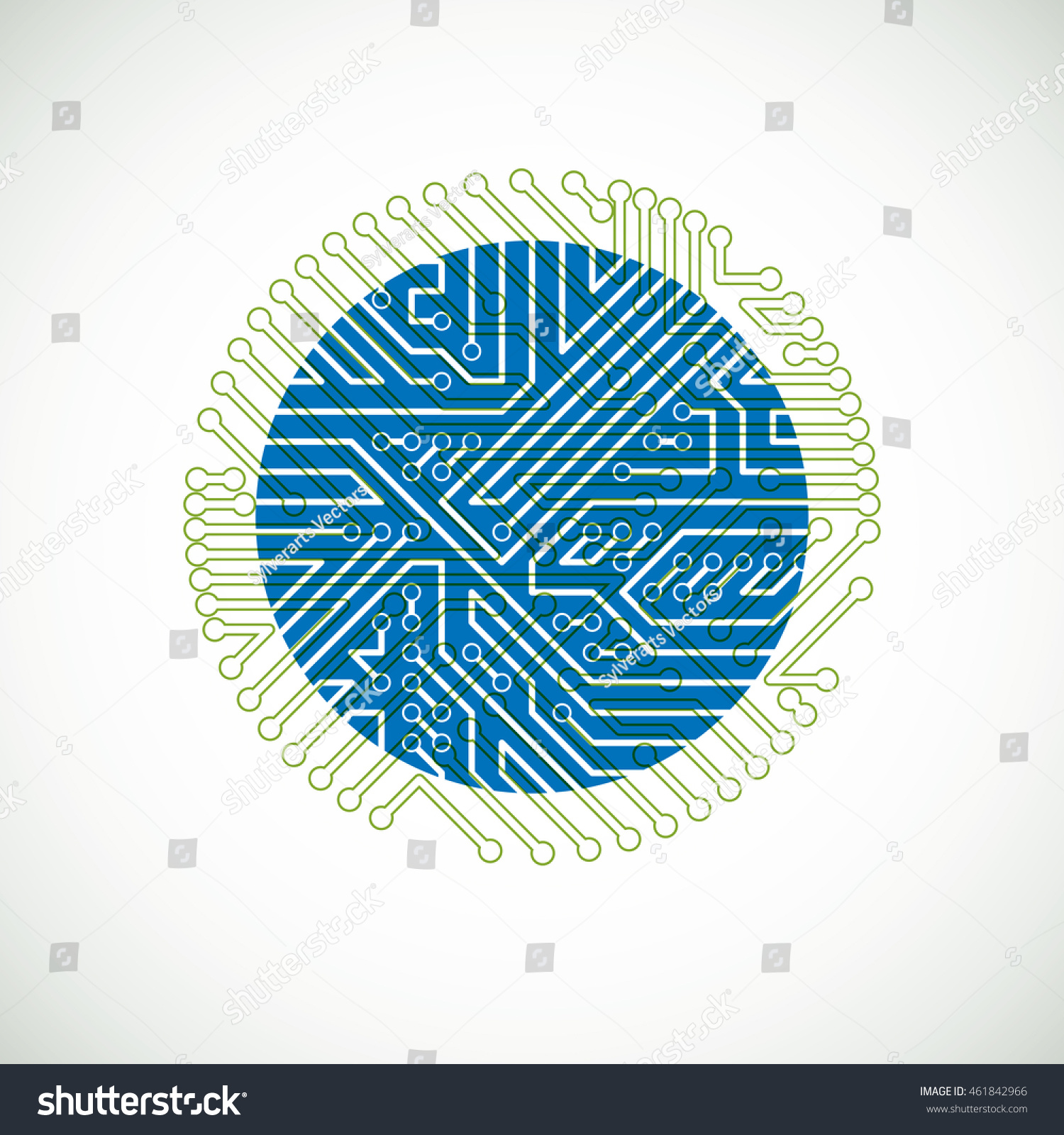 vector abstract computer circuit board colorful stock vector 461842966 shutterstock