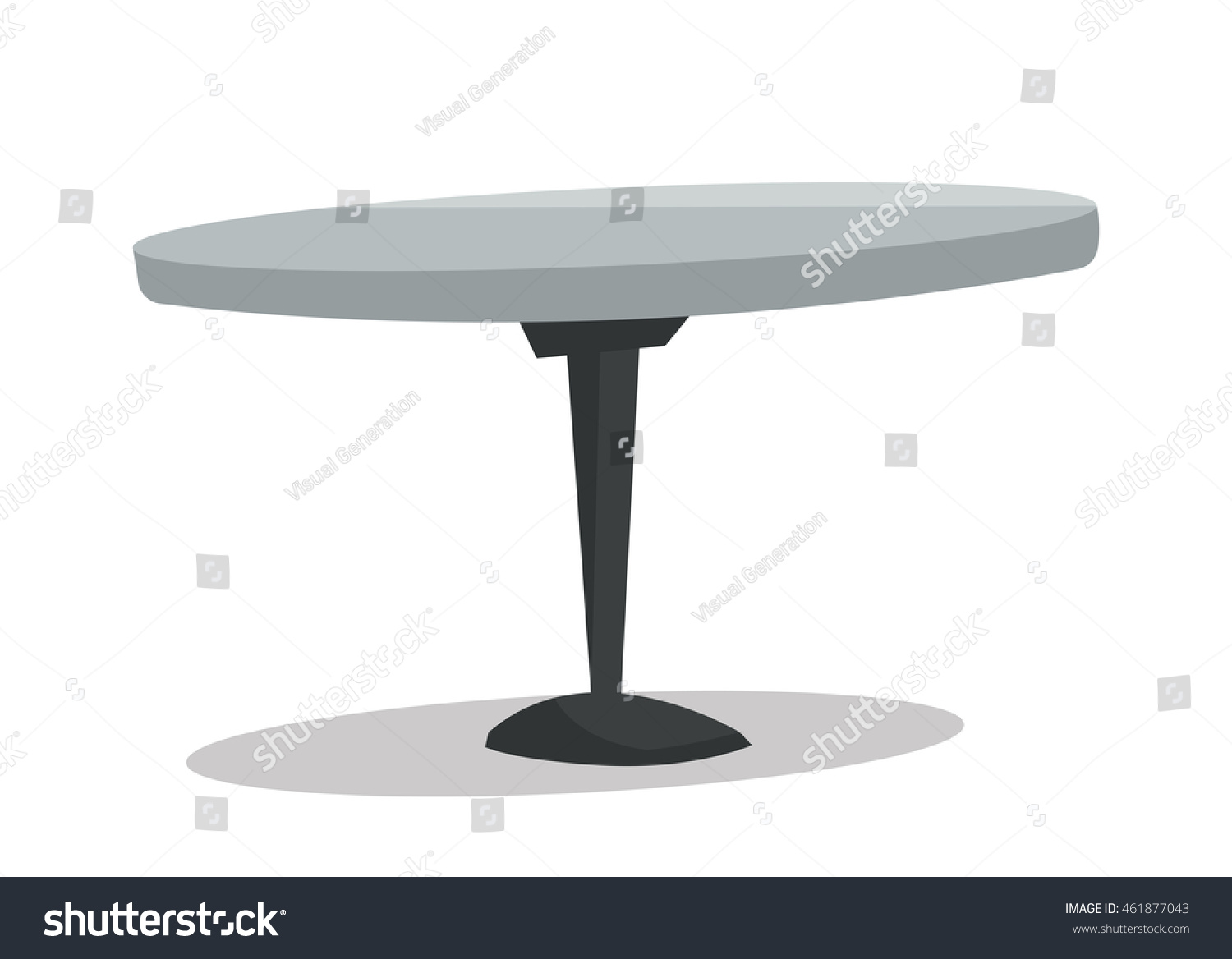 Round bar table vector flat design stock vector 461877043 for Table flat design