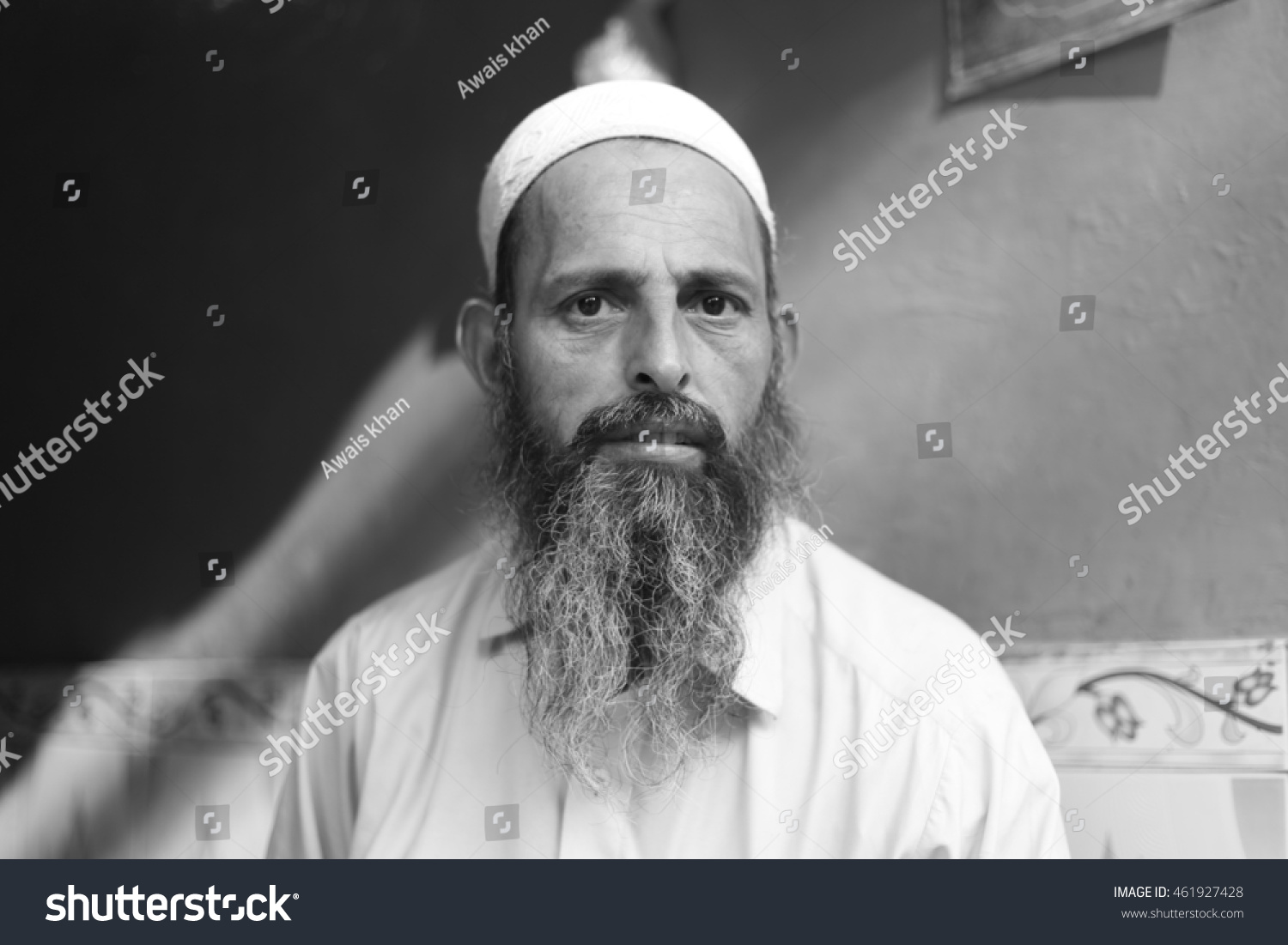 Peshawar pakistan may portrait picture of tribe leader or tribe masher on