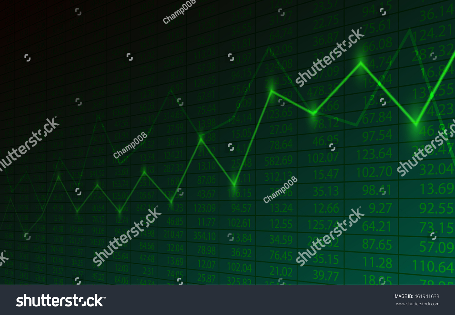 Business Chart Uptrend Line Graph Stock Stock Vector HD (Royalty ...