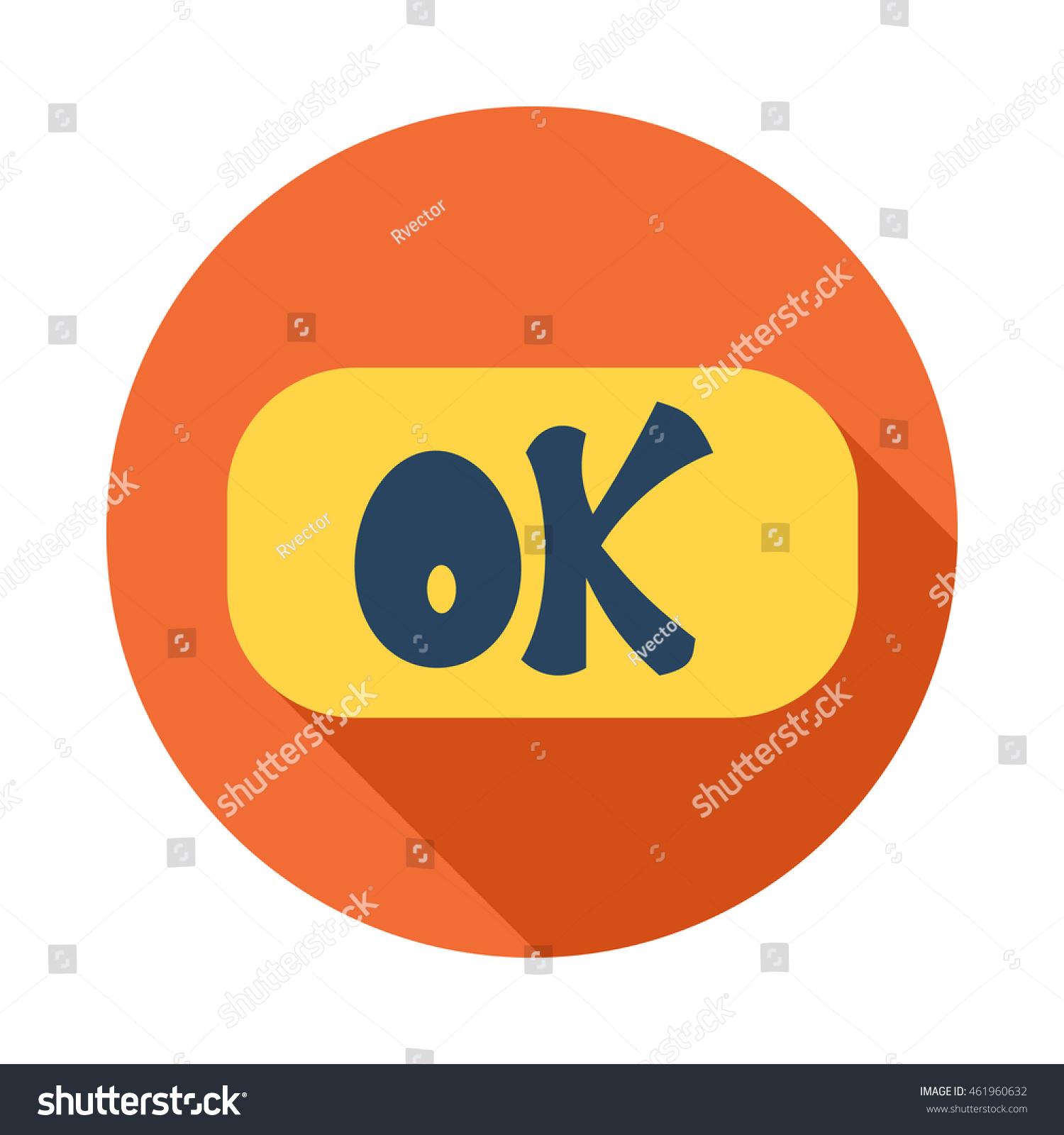 Word ok icon flat style long stock vector 461960632 shutterstock word ok icon in flat style with long shadow click and choice symbol buycottarizona