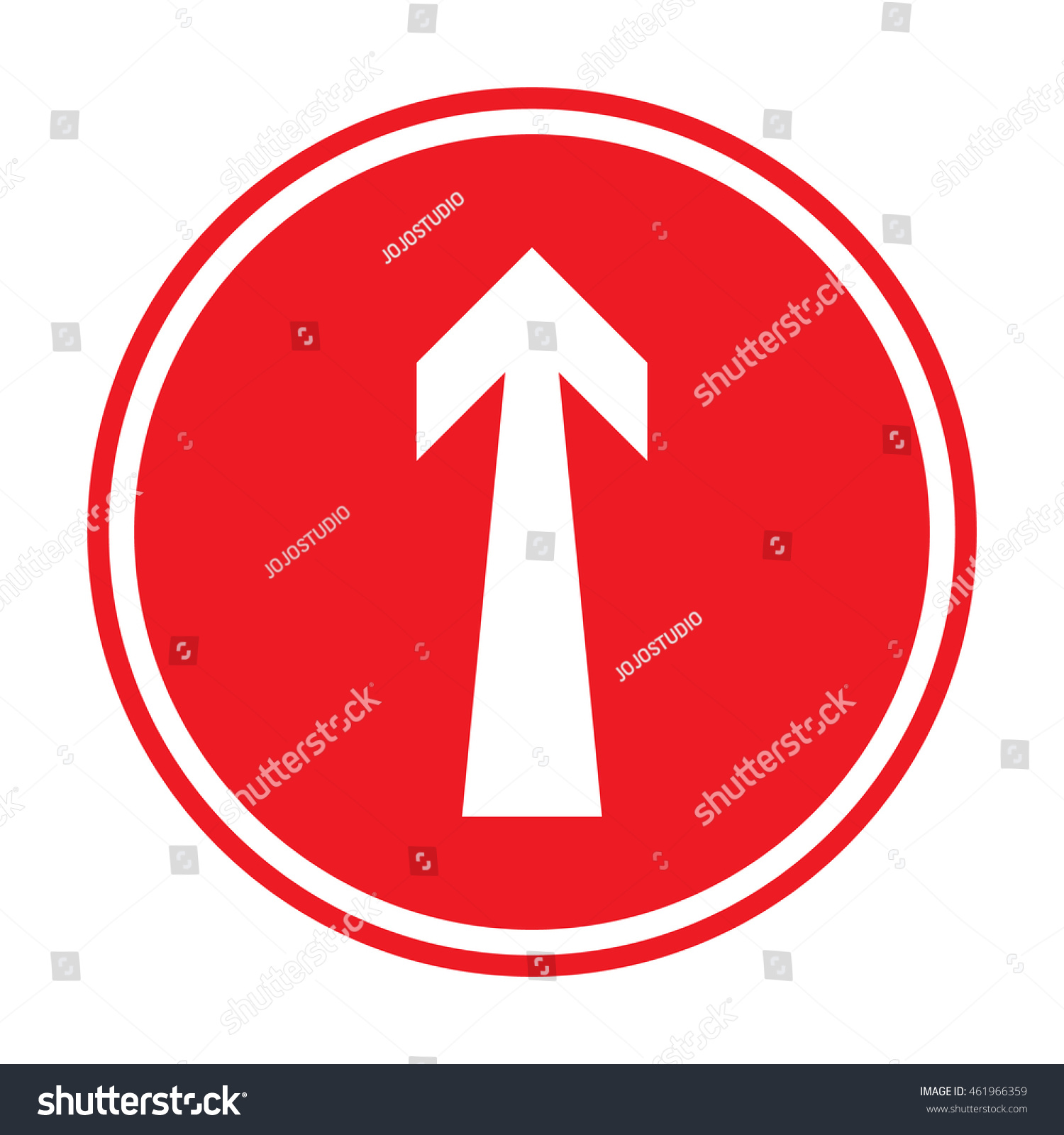Prohibition Sign Ahead Only One Way Stock Vector Hd Royalty Free