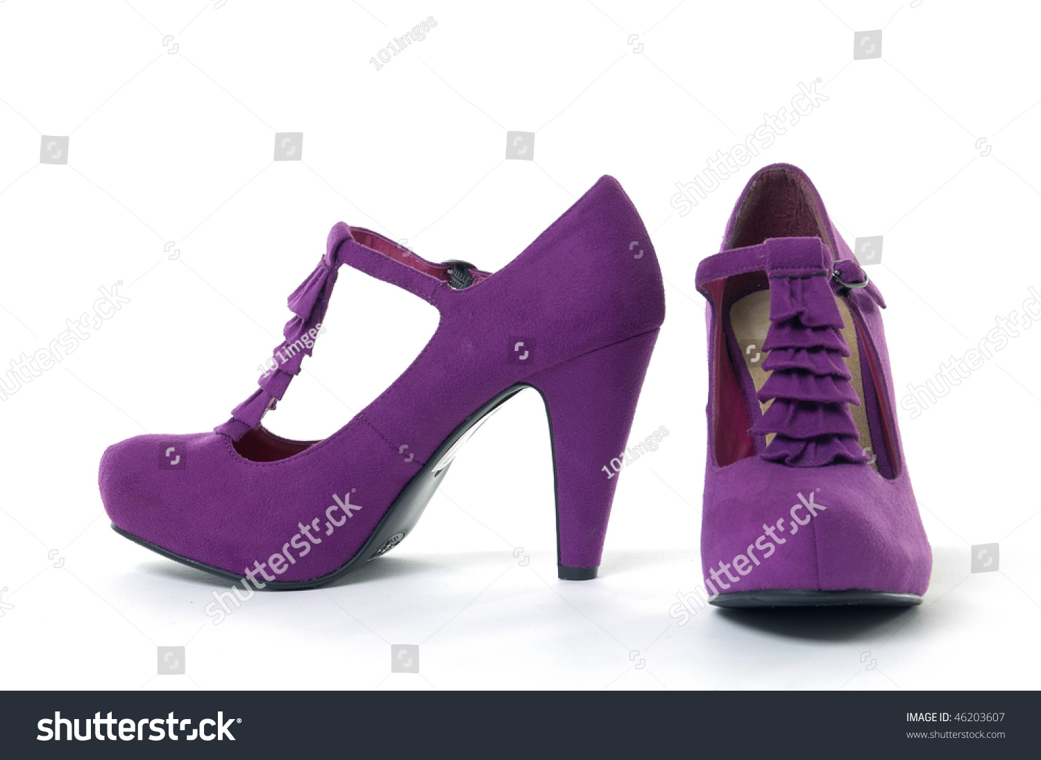Purple And Pink High Heels