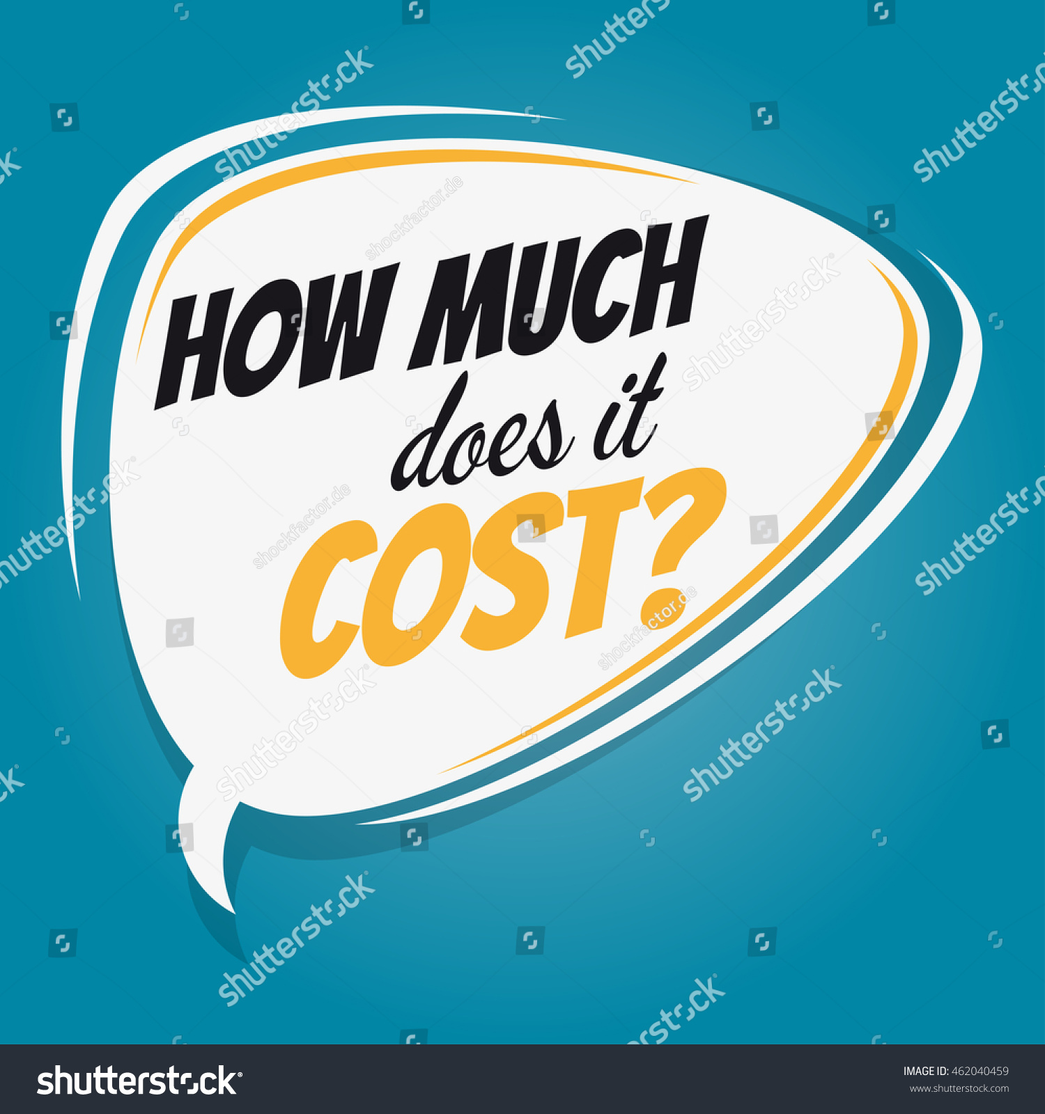 How Much Does Cost Retro Speech Stock Vector 462040459