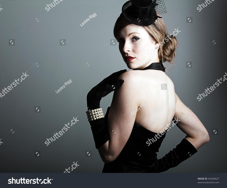 Black dress gloves - Save To A Lightbox