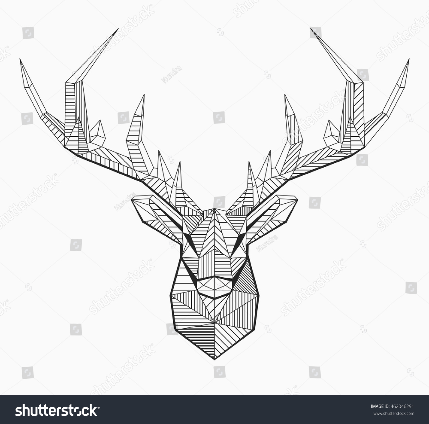Line Art Geometric : Vector low poly line art geometrical stock