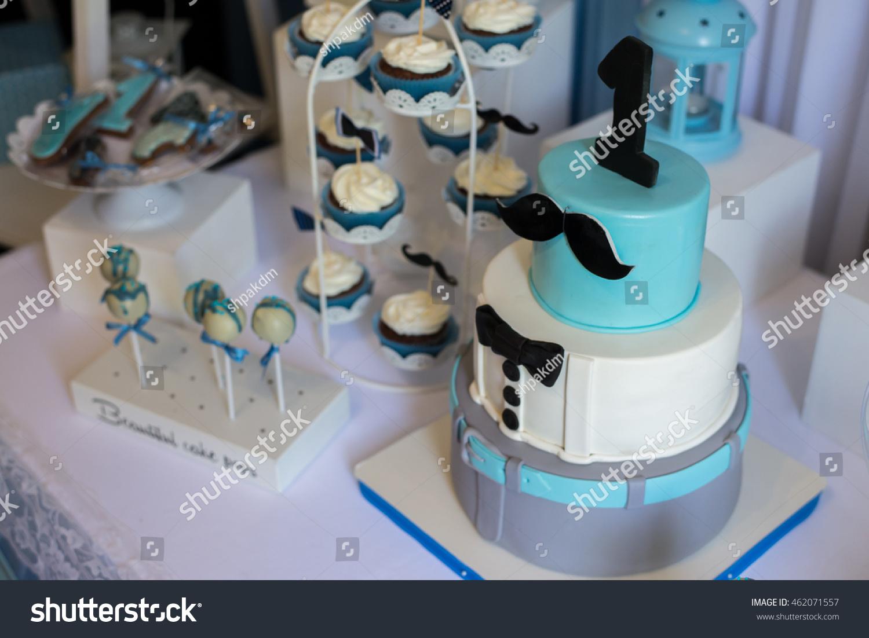 Terrific Cake First Birthday Number One Made Stock Photo Edit Now 462071557 Birthday Cards Printable Benkemecafe Filternl