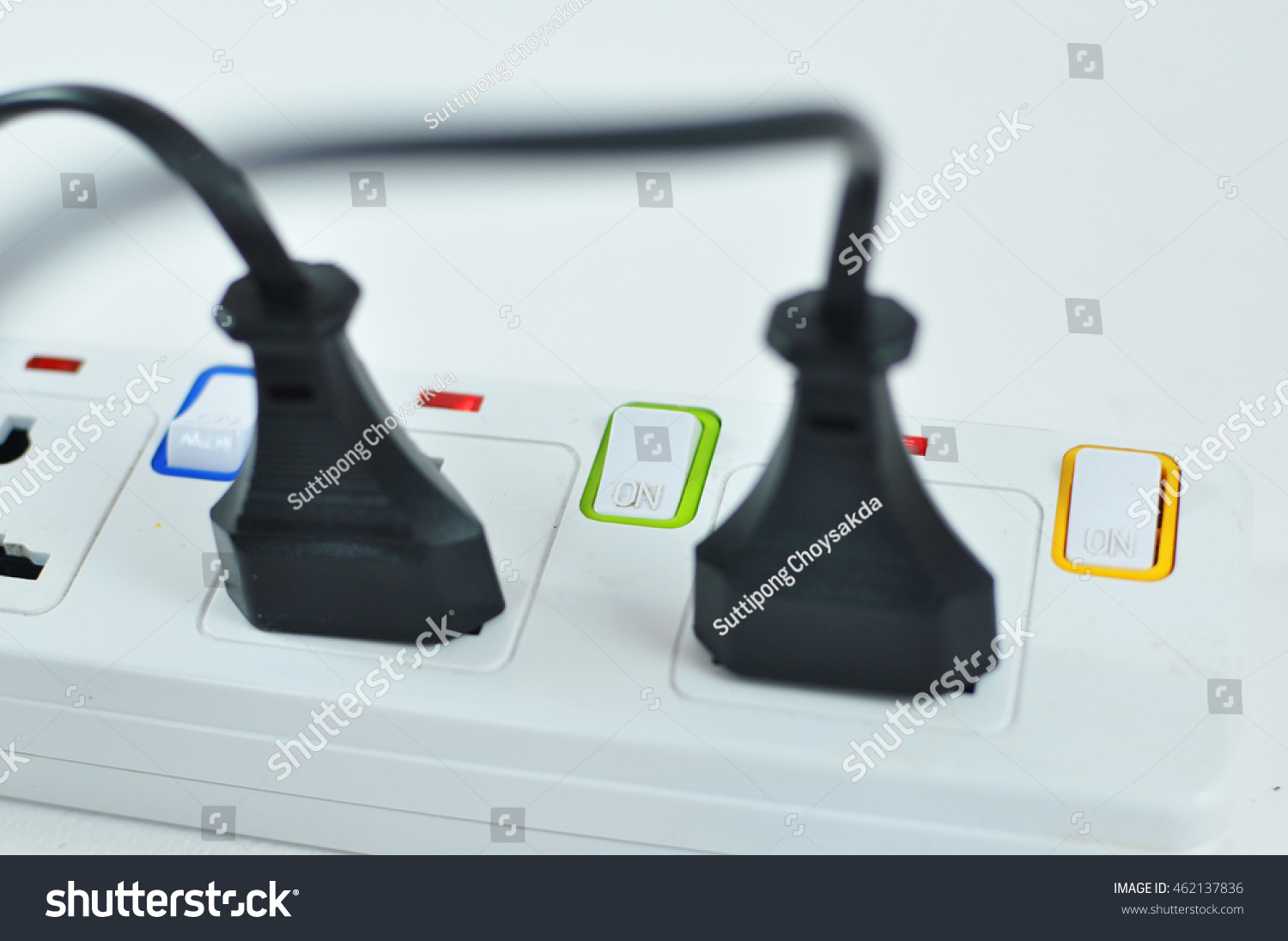 Plug Outlet Isolated On White Backgroundoutlet Stock Photo 462137836 ...