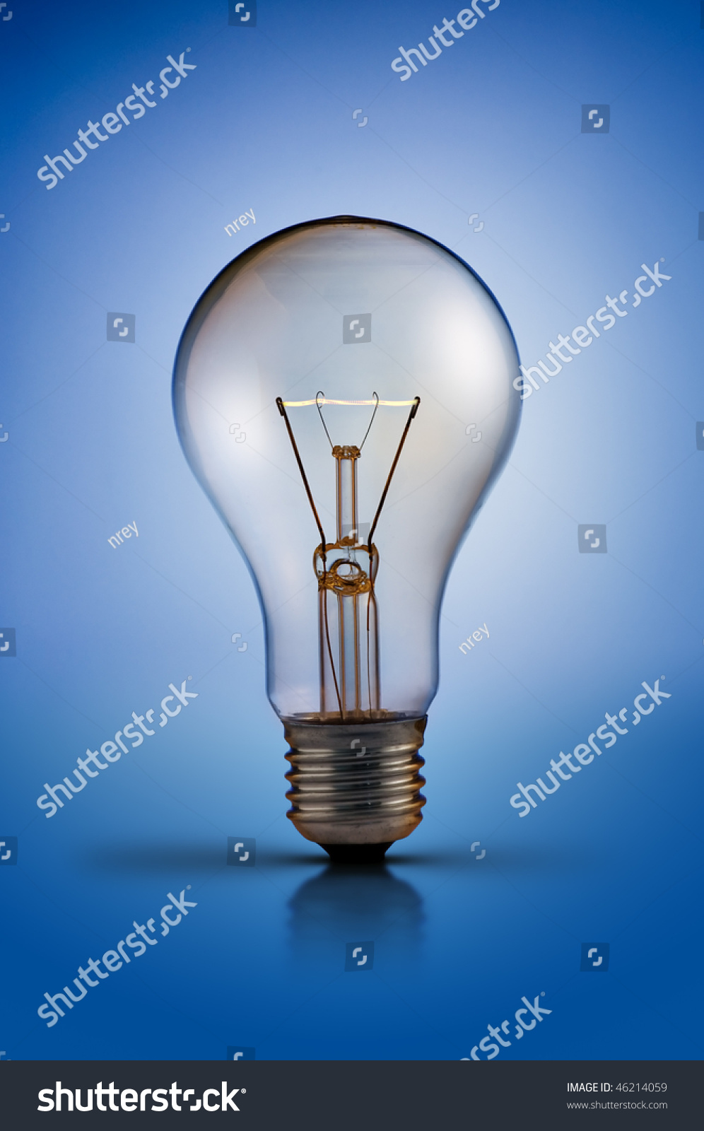 Tungsten Light Bulb Lamp On Blue Stock Photo (Royalty Free) 46214059    Shutterstock