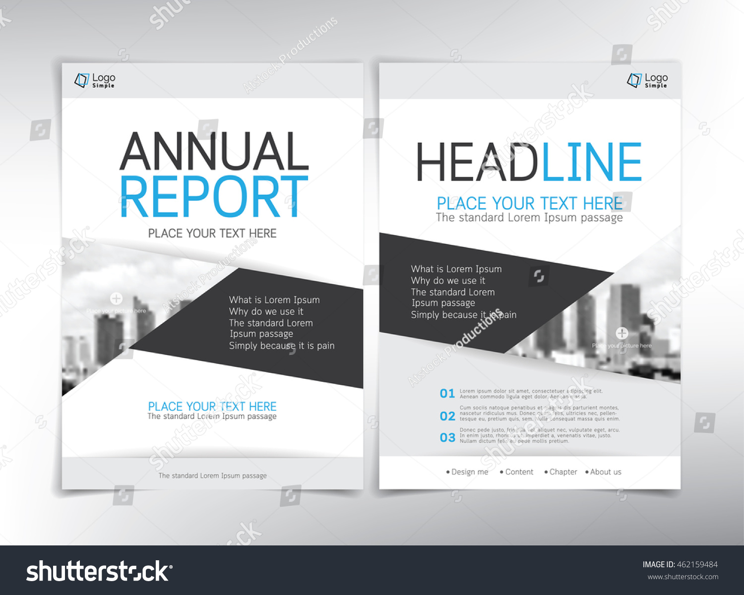 modern business cover page vector template white blue and gray theme can be