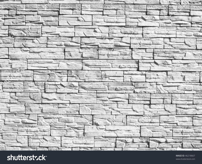 Decorative Stone Wall monochrome decorative stone wall background stock photo 46218667
