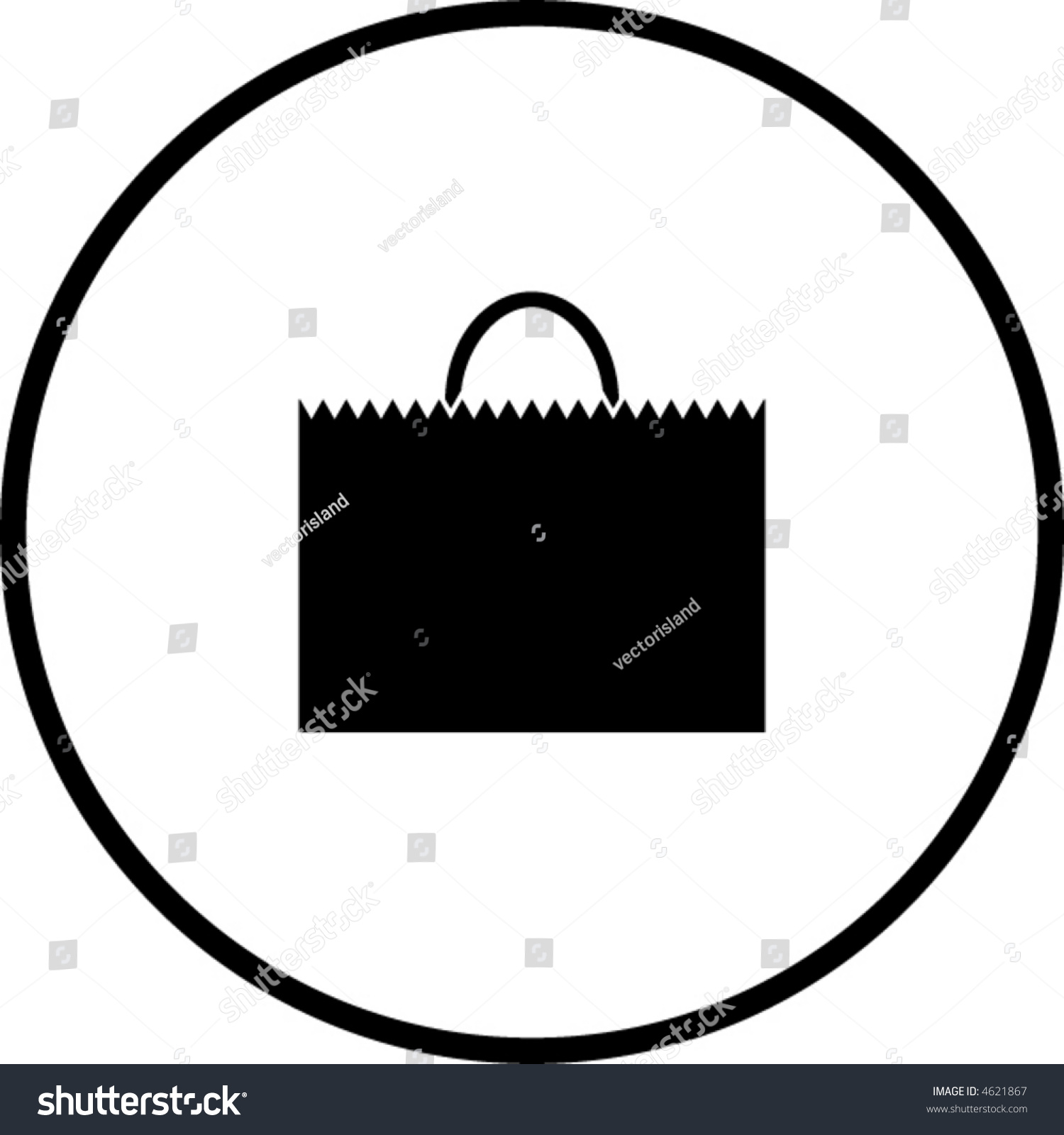 Shopping Bag Symbol Stock Vector Illustration 4621867 : Shutterstock