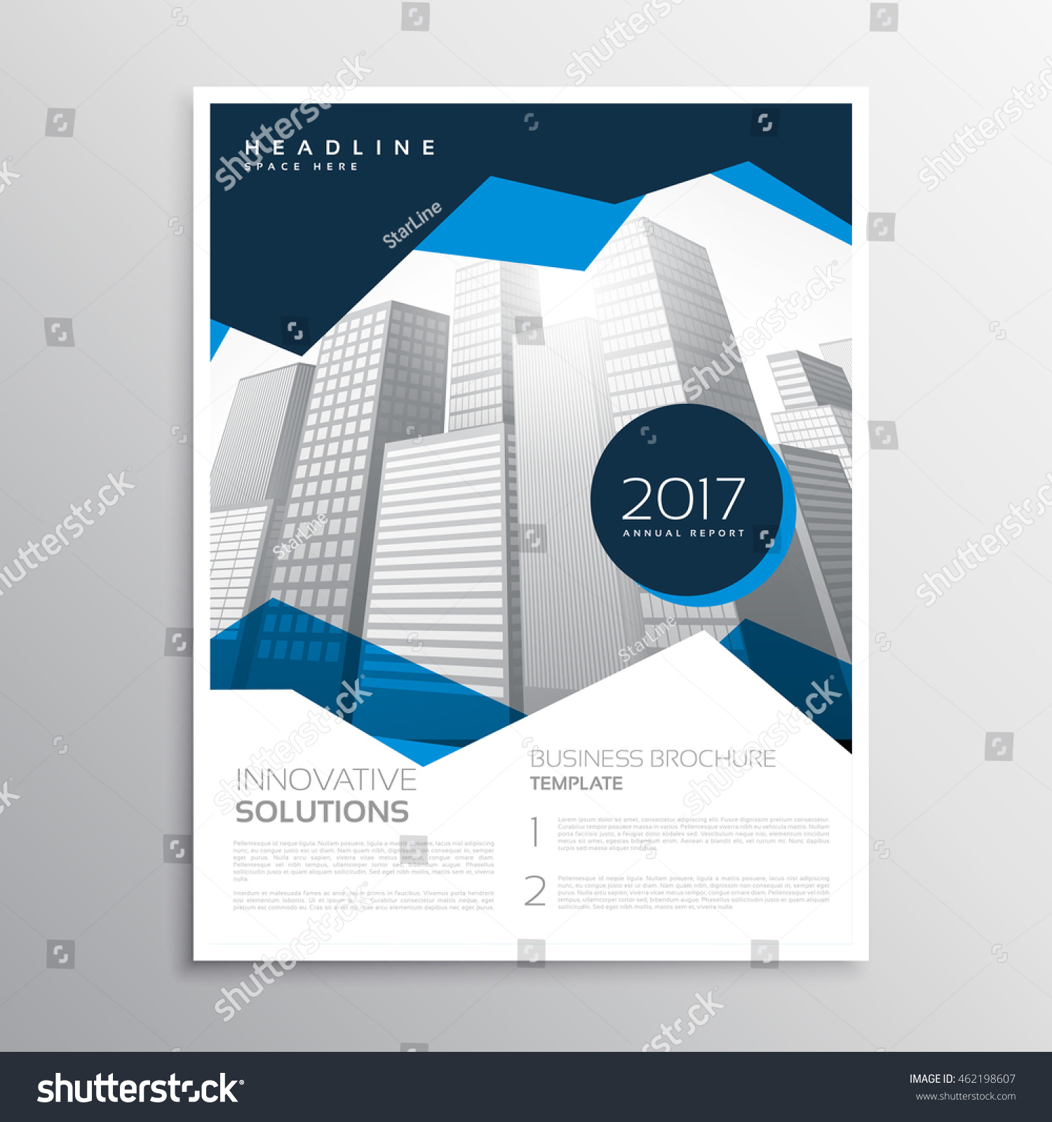 Blue Business Annual Report Brochure Template Stock Photo (Photo ...