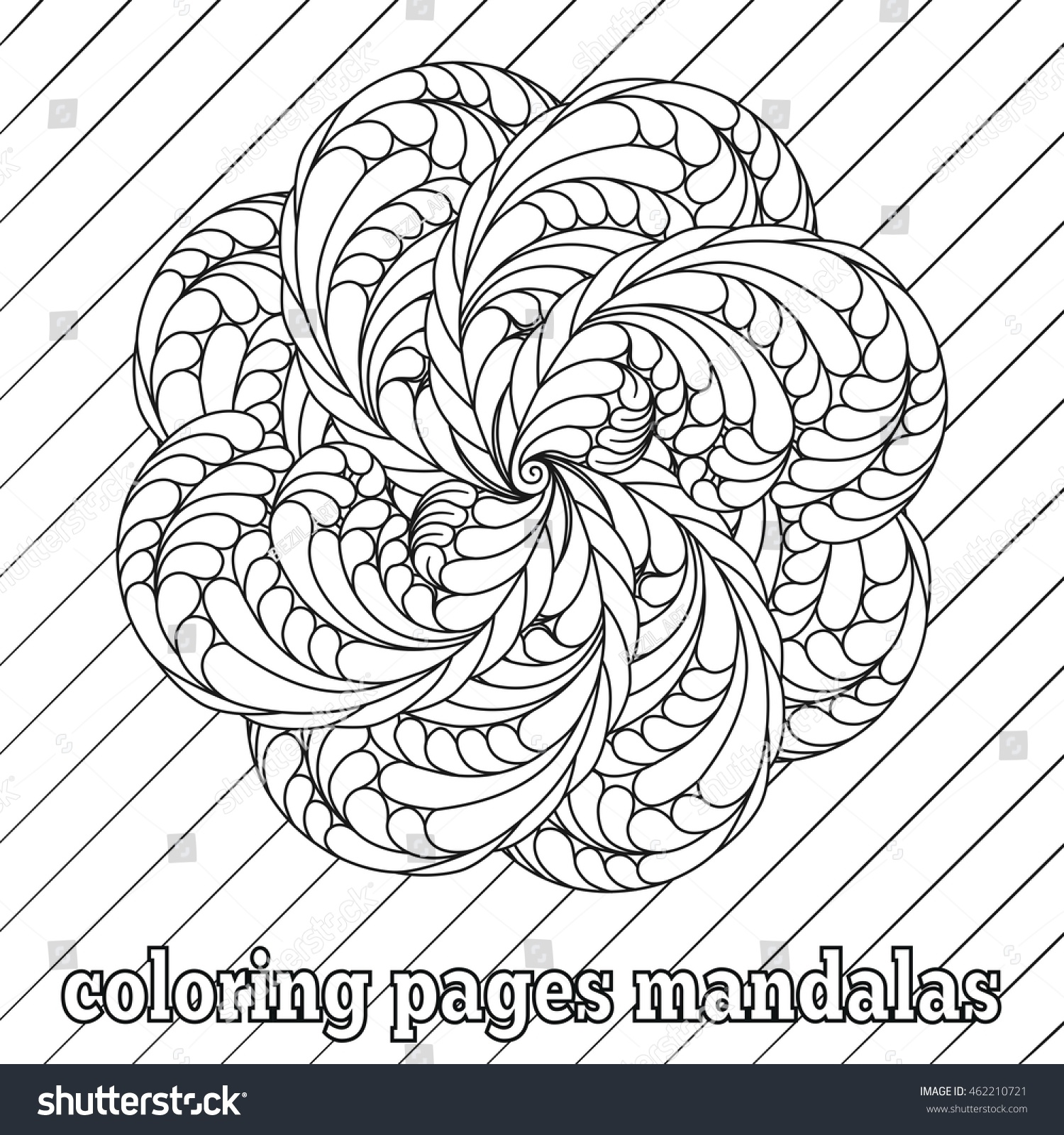 Colouring in pages abstract patterns - Coloring Pages For Adults And Older Children Vector Floral Mandala Patterns Abstract