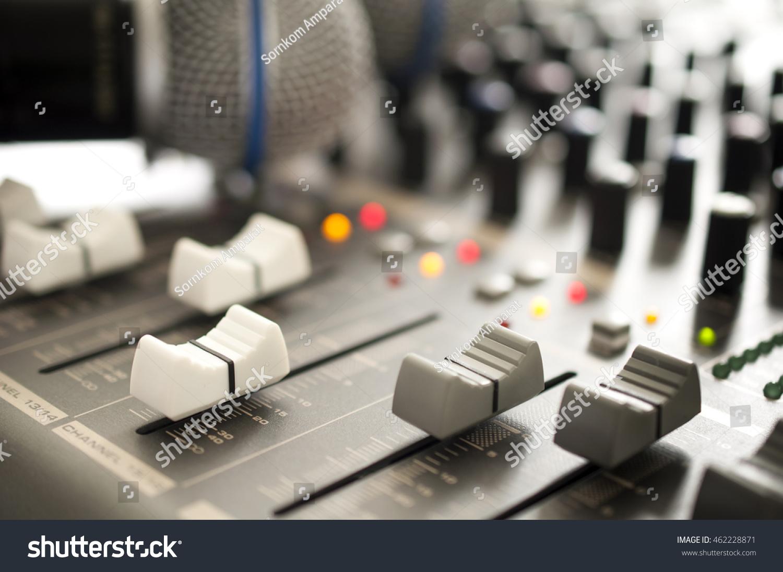 Audio Mixer Closeup Stock Photo Edit Now 462228871 Shutterstock Circuit Close Up