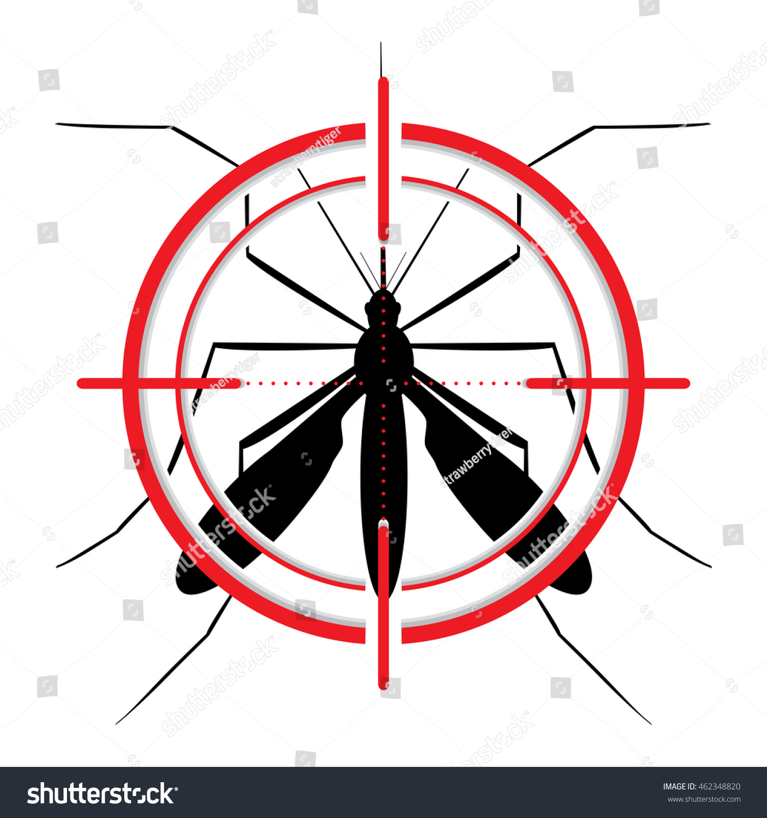 Mosquito stilt target sight signal target stock illustration mosquito with stilt target sight signal target symbol ideal for educational informational buycottarizona Image collections