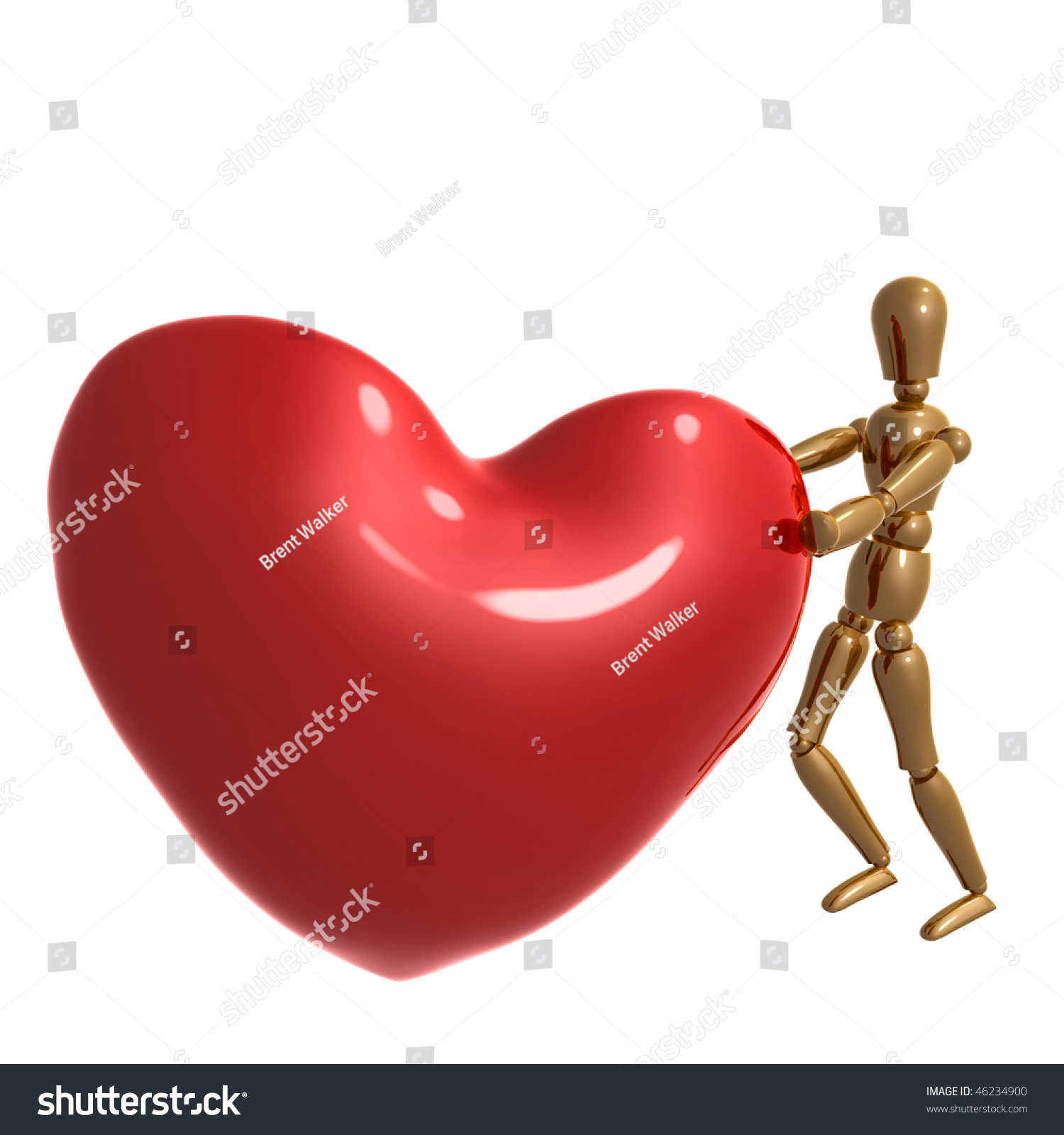 Dummy figure pushing big heart symbol stock illustration 46234900 dummy figure pushing big heart symbol buycottarizona Image collections