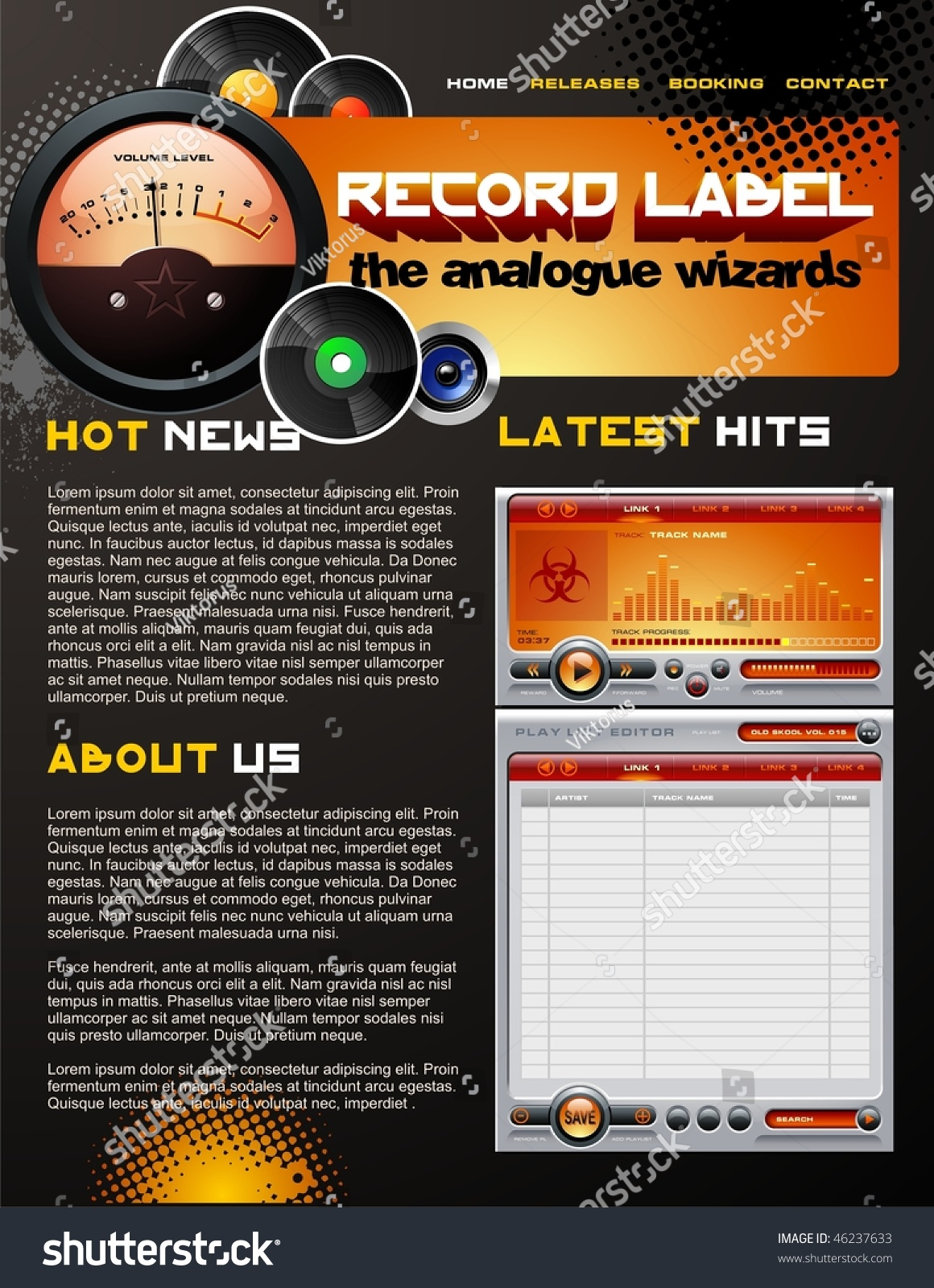This is a graphic of Adaptable Record Label Website Design