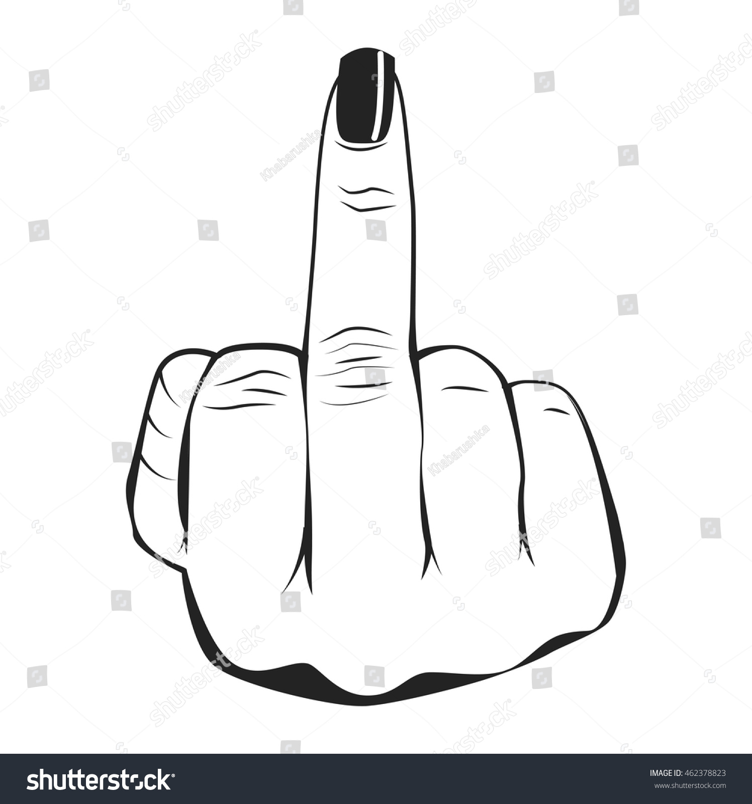 middle finger female hand women nail stock vector hd royalty free rh shutterstock com middle finger vector art middle finger vector image