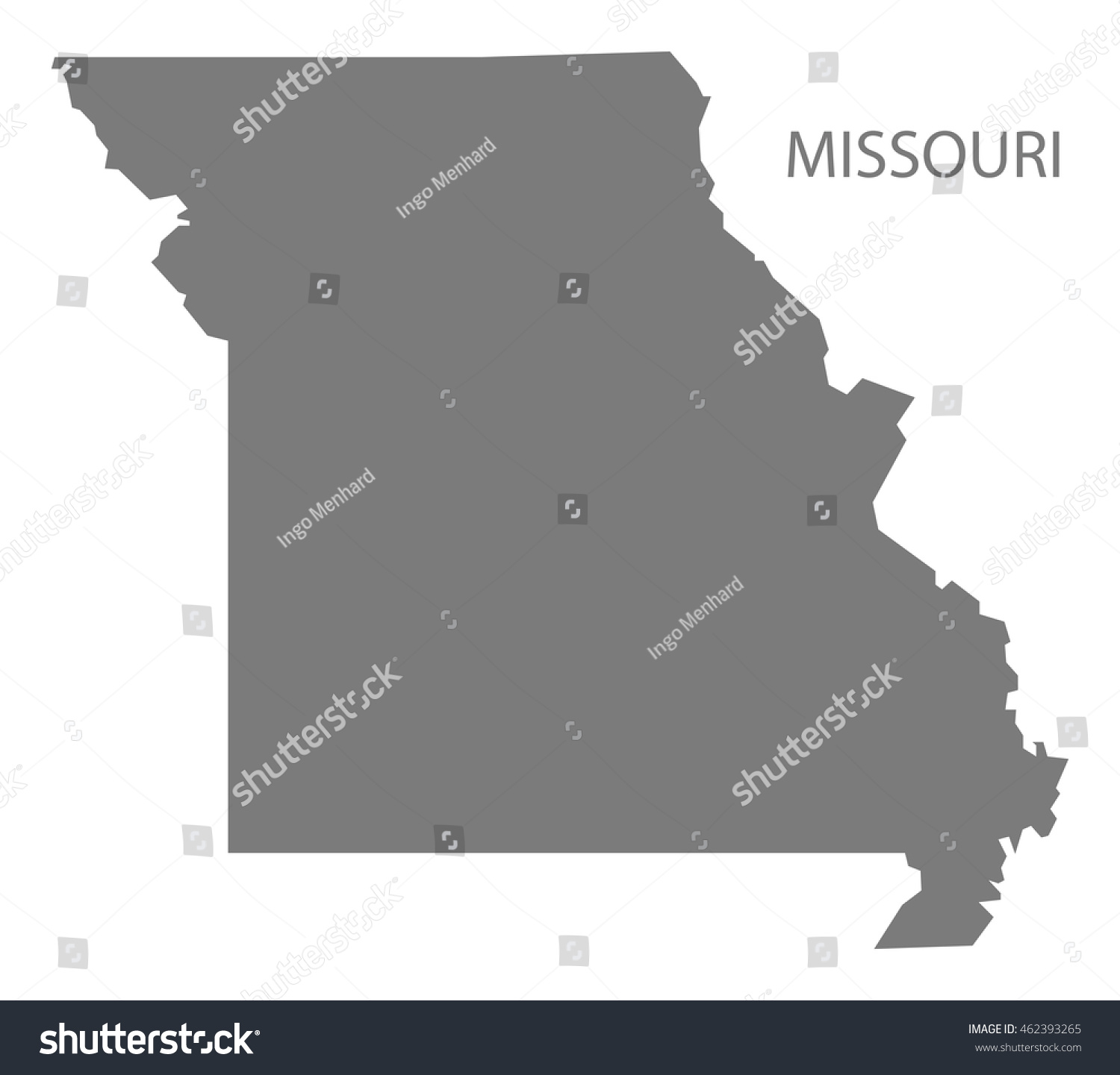 Map Of Missouri Counties Cities State Map Of USA States Missouri - Map usa vector