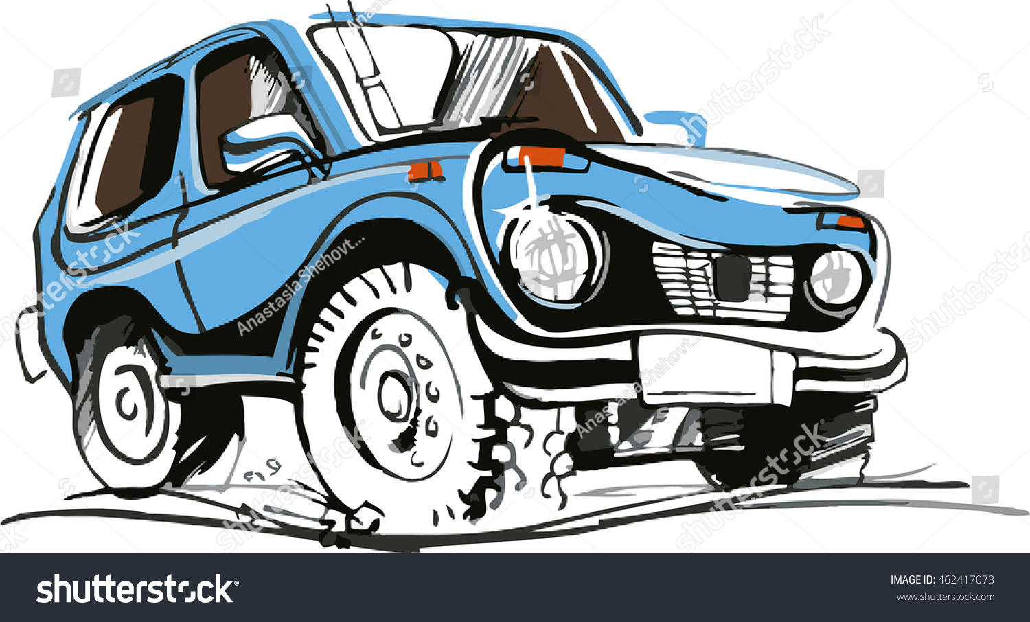 Blue Suv Sketch Stock Vector Shutterstock