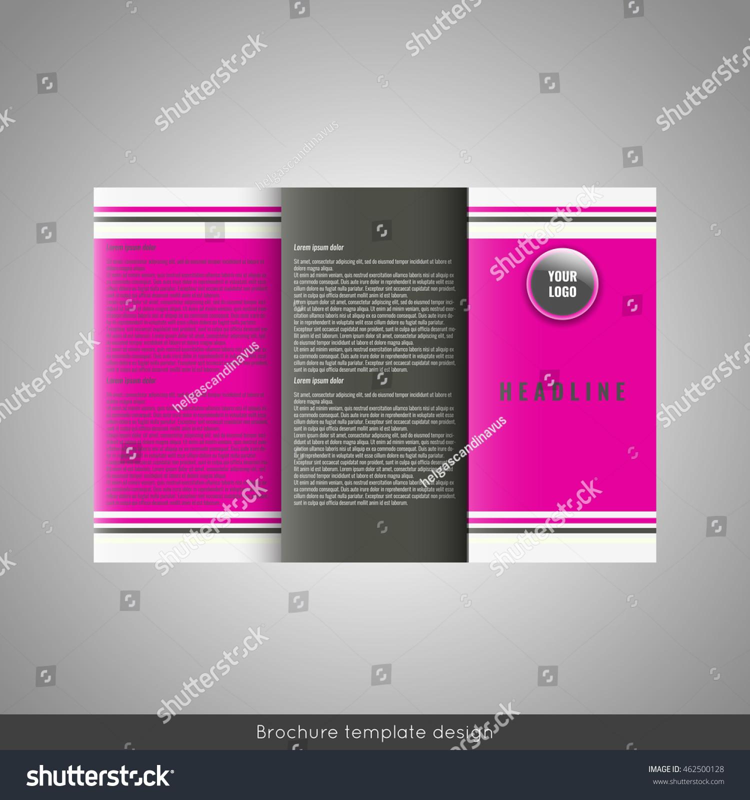 Business Trifold Brochure Template Design Wavy Stock Vector HD ...