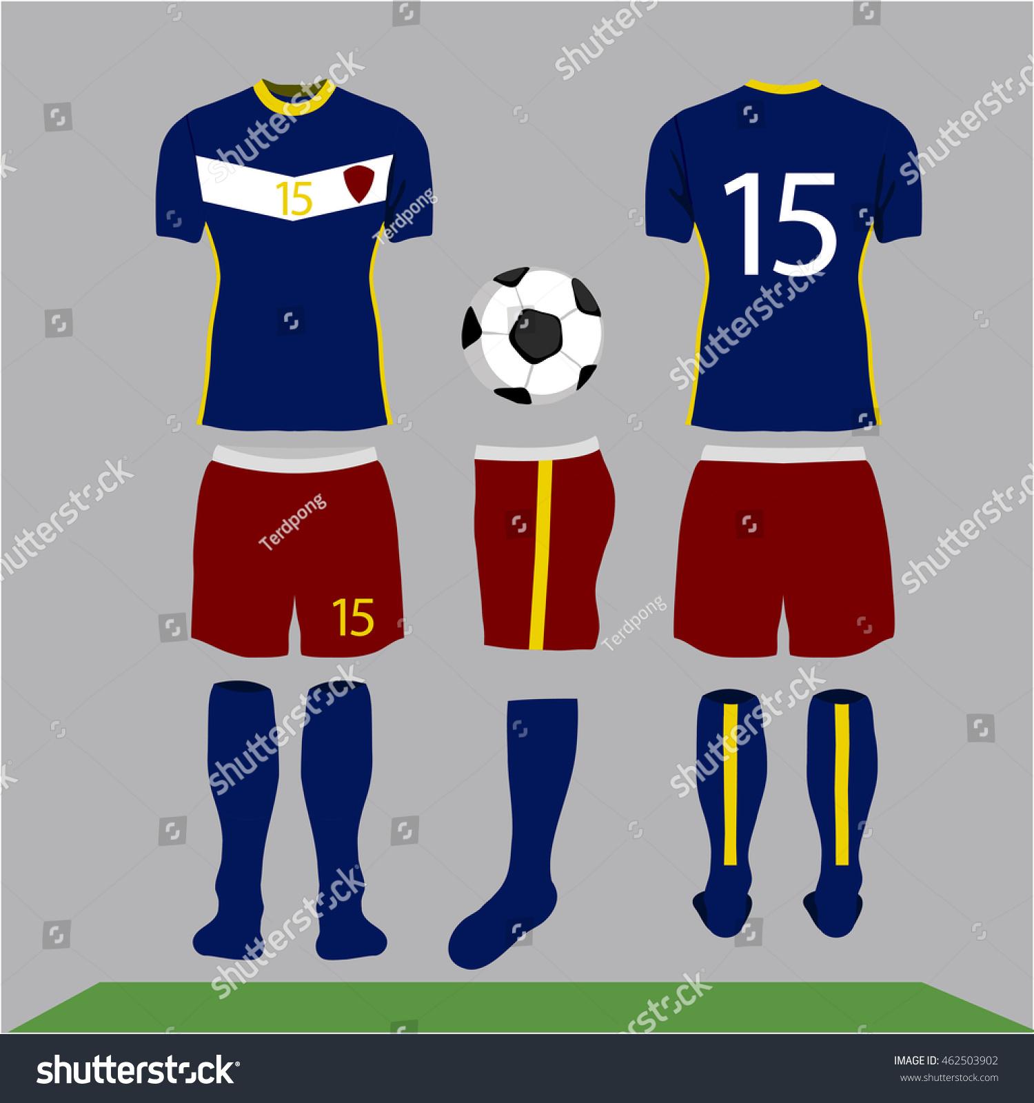 Stokovaya Vektornaya Grafika Football Kit Design Shirt Soccer Bez
