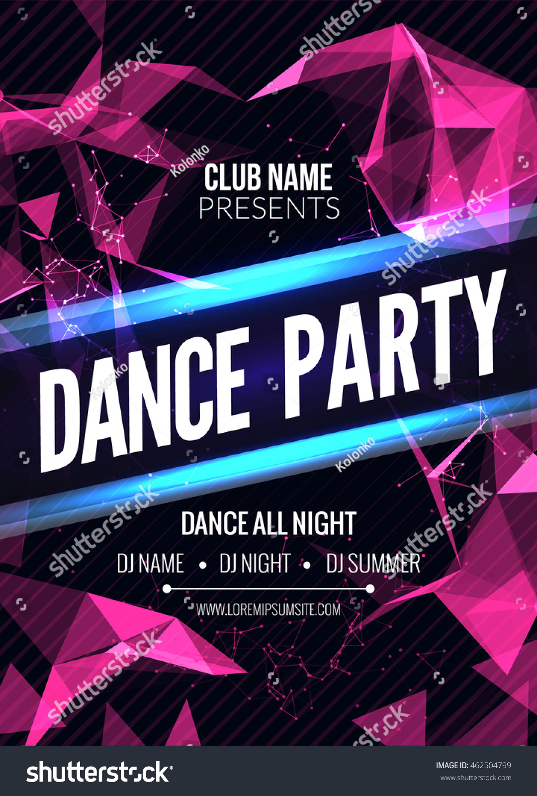 modern club music party template dance stock vector 462504799 modern club music party template dance party flyer brochure night party club sound