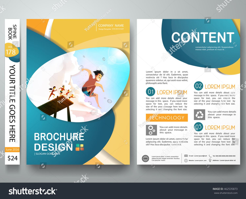 Brochure Design Template Vector Business Flyers Stock Vector