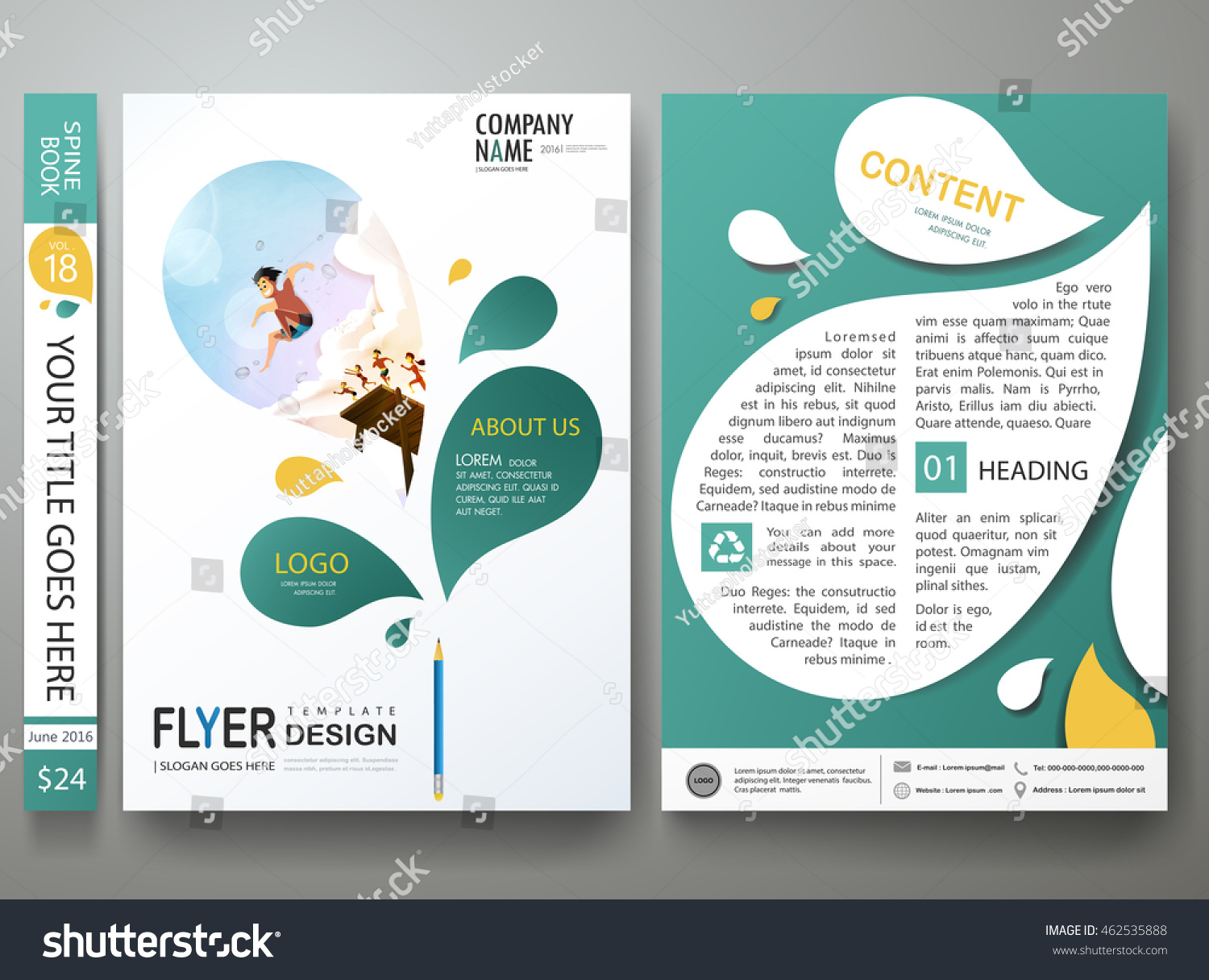 Cover Book Brochure Layout Vector ~ Brochure design template vector business flyers stock