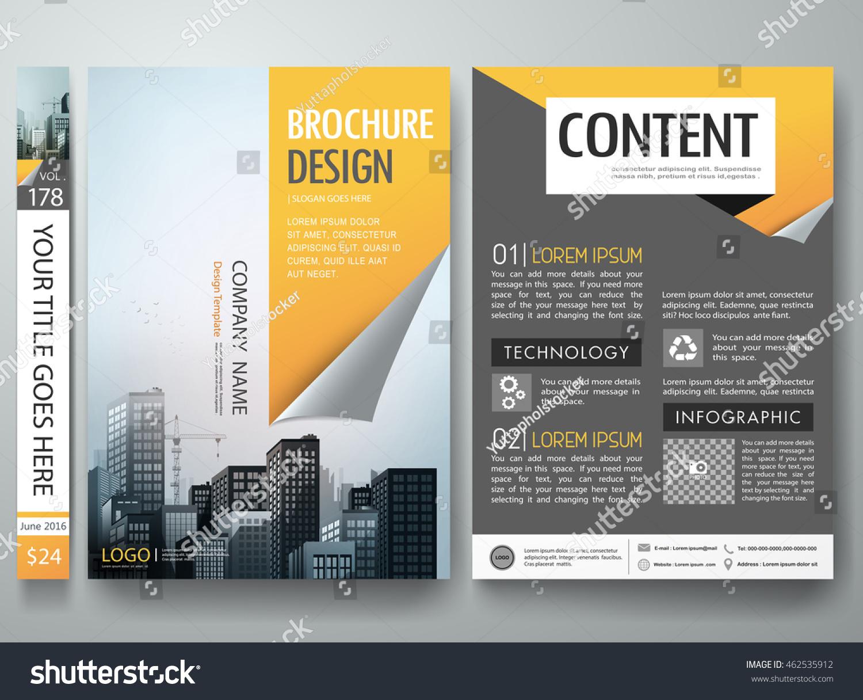 brochure design template vector business flyers report magazine brochure design template vector business flyers report magazine cover book portfolio presentation orange page