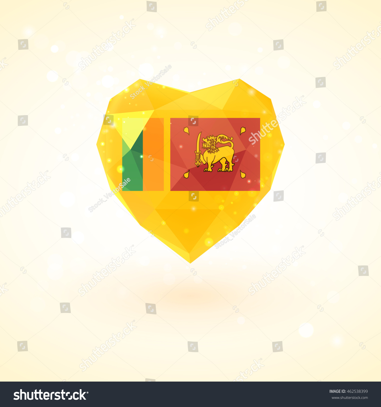 Flag sri lanka shape diamond glass stock vector royalty free flag of sri lanka in shape of diamond glass heart in triangulation style for info graphics m4hsunfo