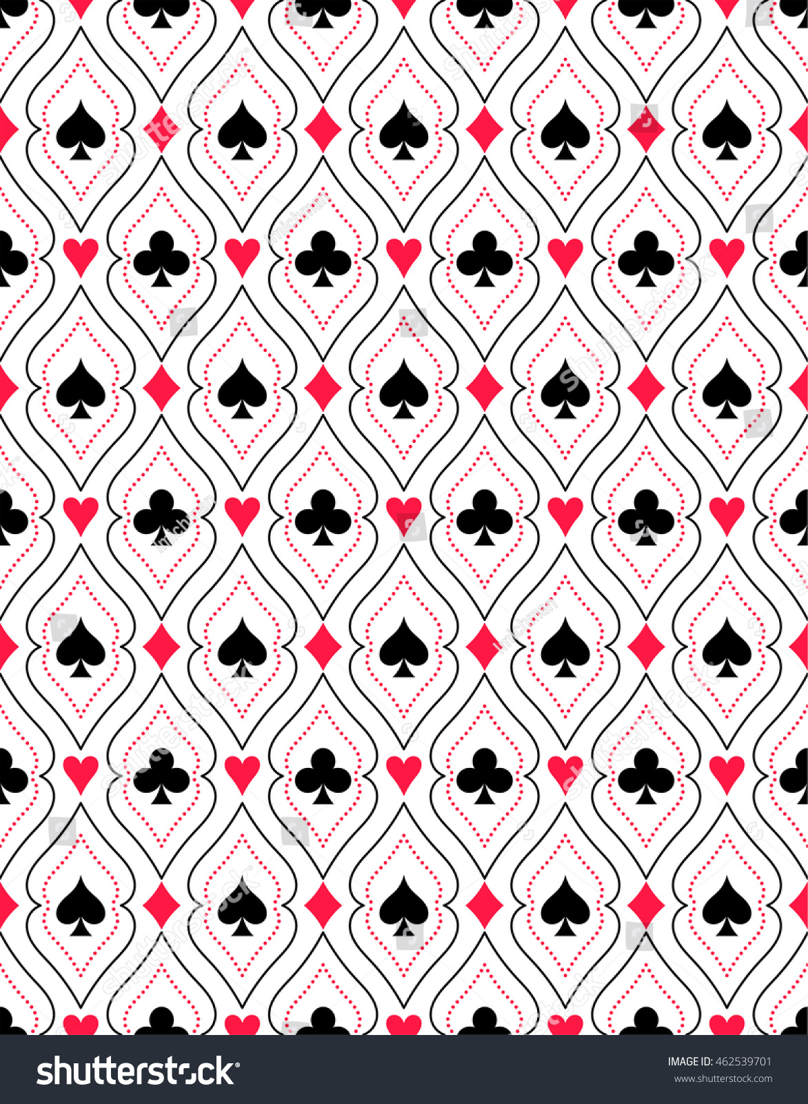 Seamless pattern colors playing cards template stock vector seamless pattern from colors of playing cards a template for a case packagings pronofoot35fo Gallery