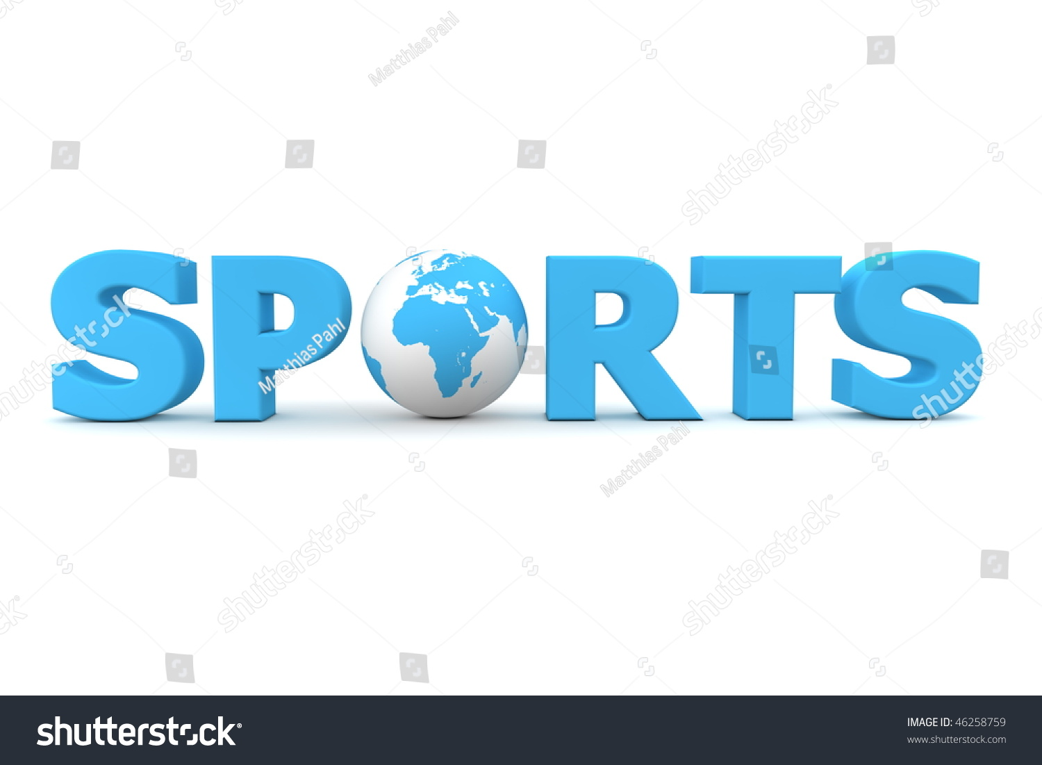 The Word Sports In 3d