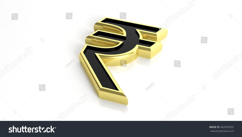 3d rendering golden india rupee symbol stock illustration 3d rendering golden india rupee symbol on white background biocorpaavc