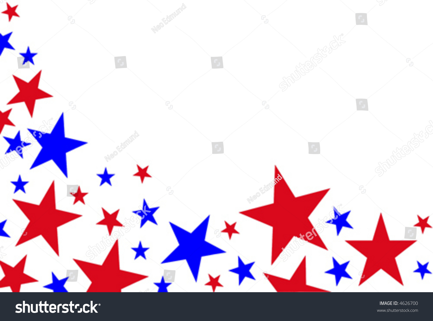 Red White Blue Stars Stock Vector 4626700 - Shutterstock - photo#32