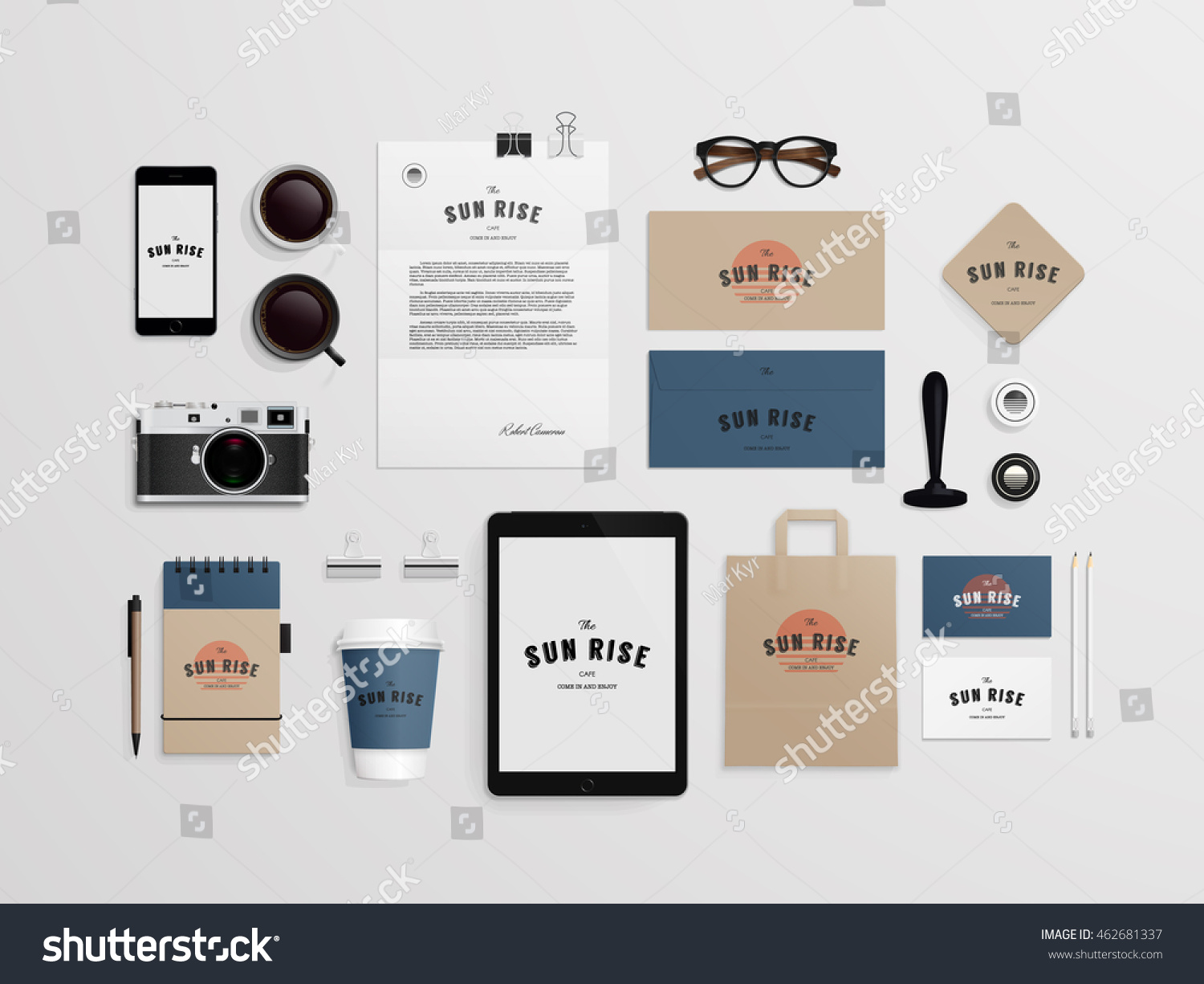 corporate identity template set logo sample のベクター画像素材
