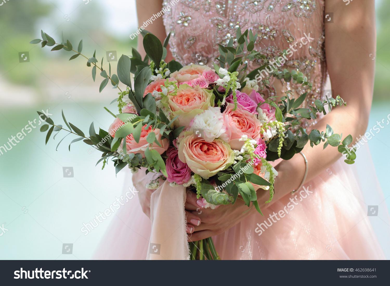 Beautiful Bridal Bouquet Hands Bride Wedding Stock Photo Edit Now