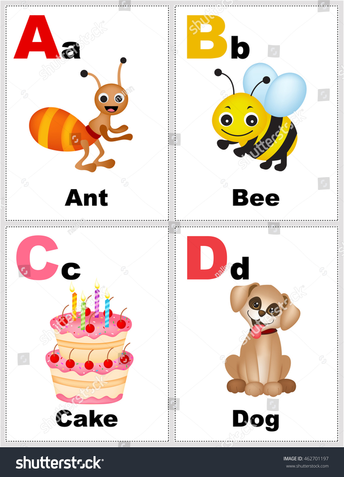 graphic relating to Printable Alphabet Flash Cards identified as Alphabet Printable Flashcards Variety Letter Abcd Inventory
