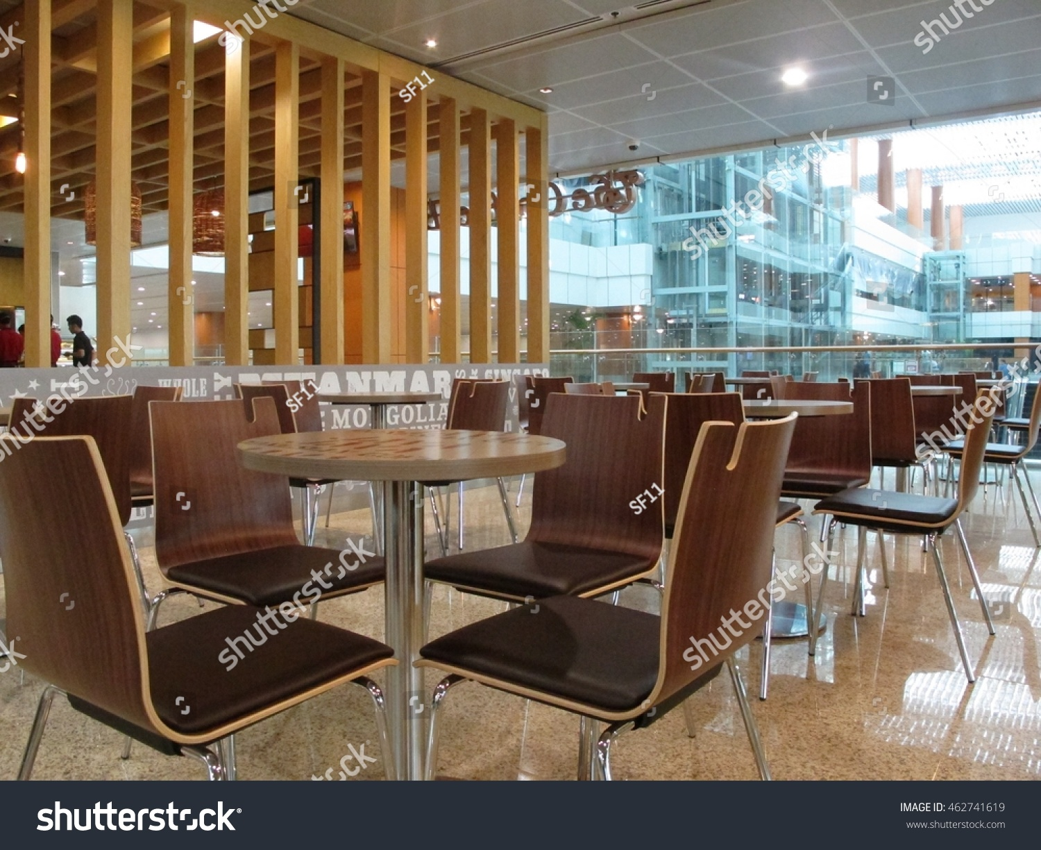 Yangon myanmar july 26 2016 modern interior design of the coffee bean tea leaf at yangon international airport it is the primary and travel