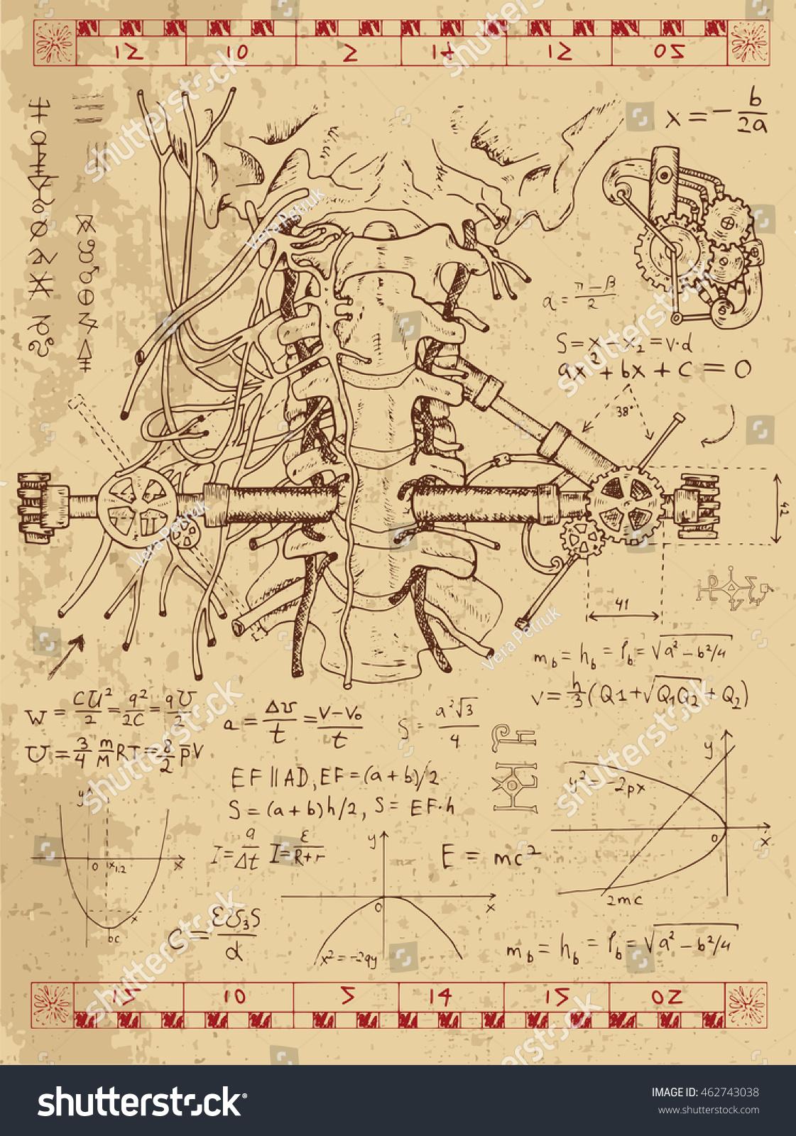 Set Drawings Graphics Human Anatomy Throat Stock Vector Royalty