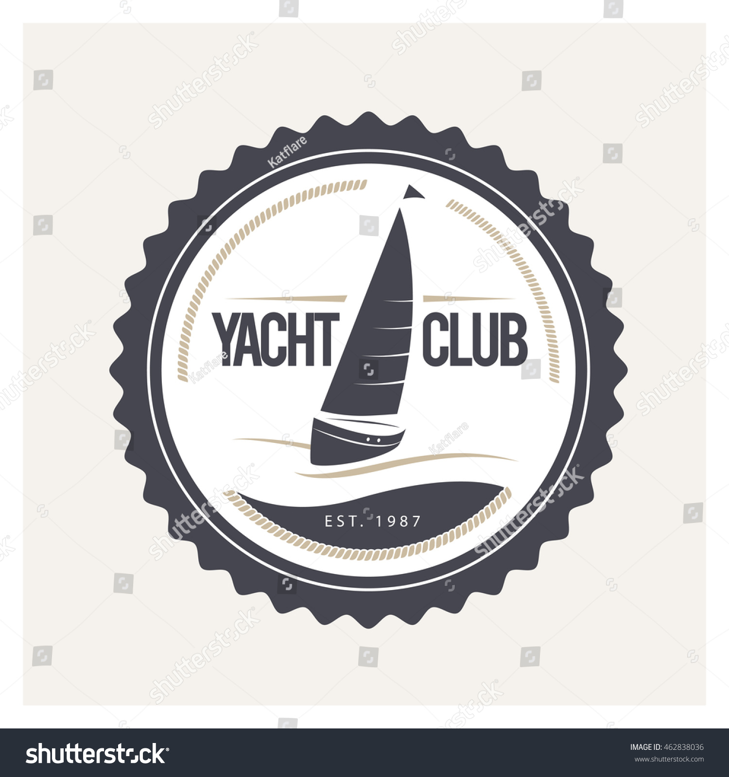 Vector flat yacht club regatta logo stock vector 462838036 vector flat yacht club regatta logo design sailing boat ship icon silhouette toneelgroepblik Image collections