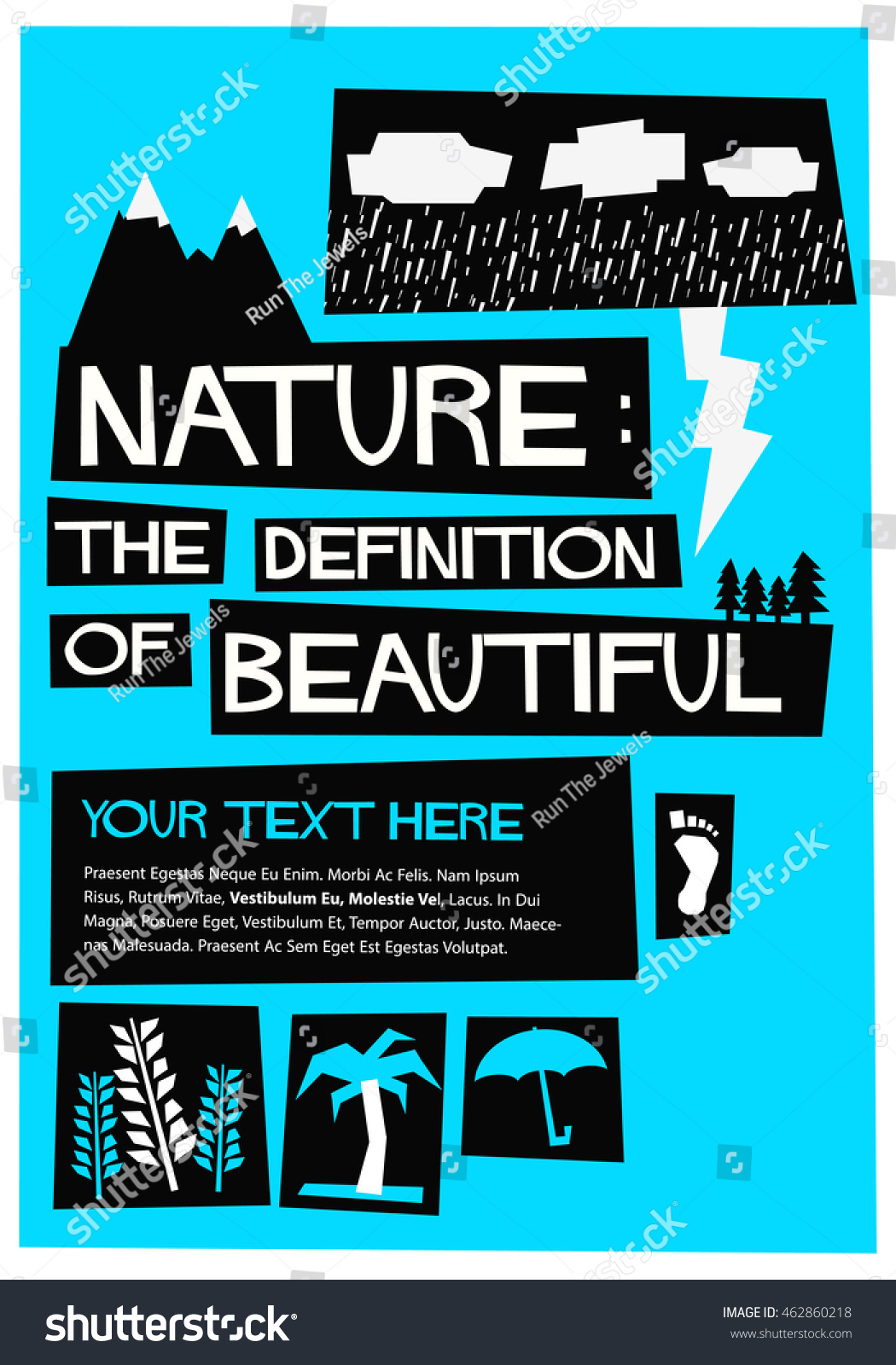 Poster design definition - Nature The Definition Of Beautiful Flat Style Vector Illustration Quote Poster Design