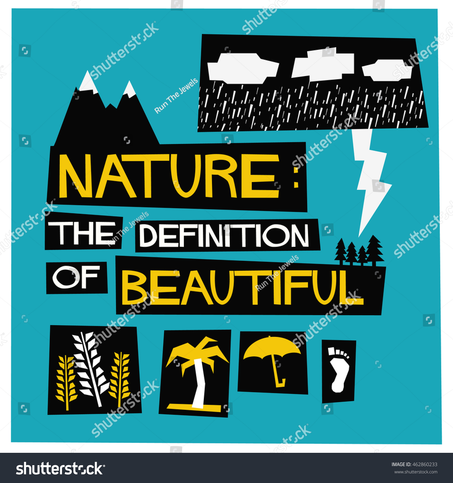 Poster design definition - Poster Design Definition Nature The Definition Of Beautiful Flat Style Vector Illustration Quote Poster Design