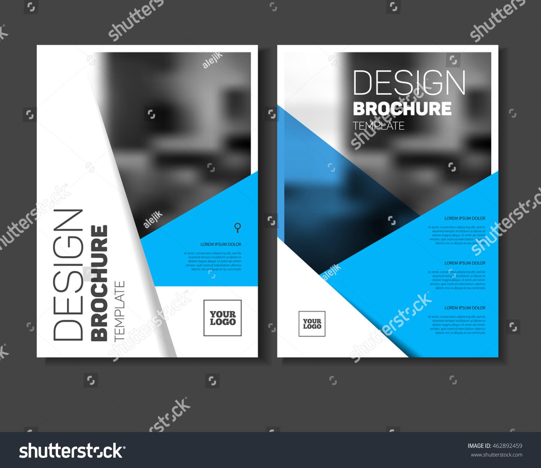 Abstract Business Flyer Design Vector Template Stock Vector ...