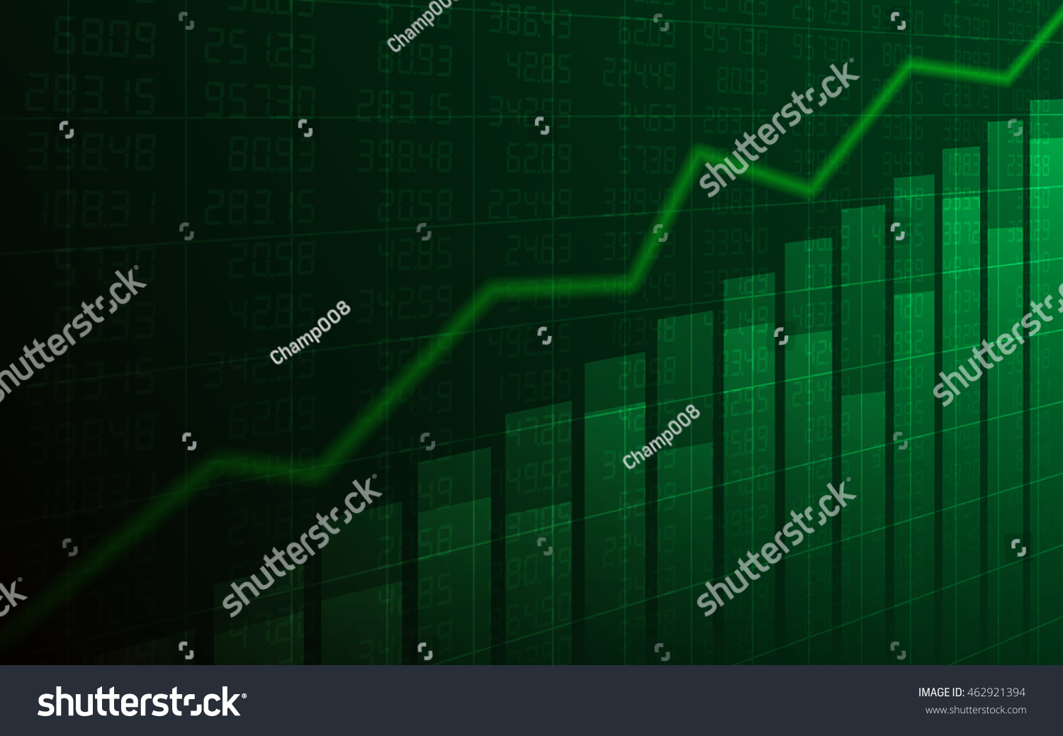 Abstract Business Chart Uptrend Line Graph Stock Vector (2018 ...